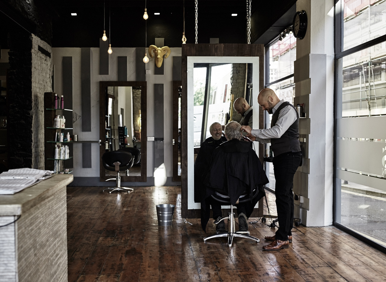 Barber Shop shoot, lifestyle