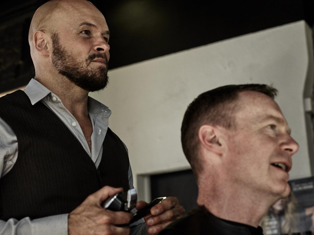 Barber Shop shoot, lifestyle