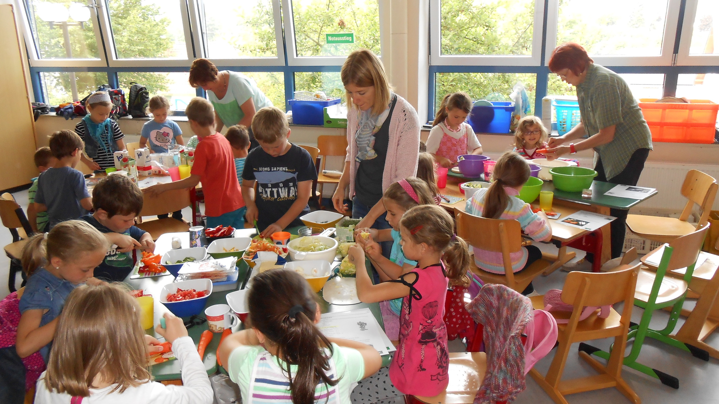 Pausensnacks in der Grundschule Niederelbert