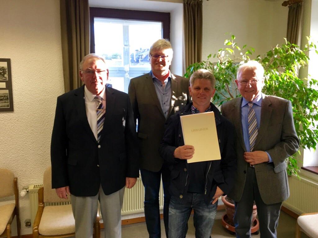 Von links, nach rechts. Willi Müller, Christoph Meyer, Kurt Bader, Willi Bode