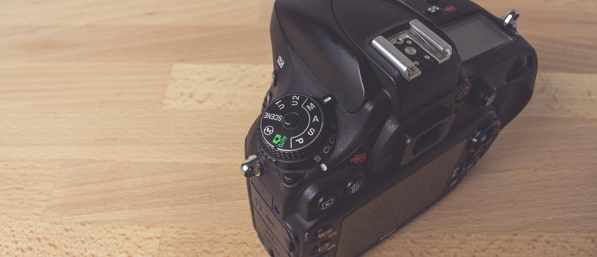 Nikon DSLR im manuellen Modus