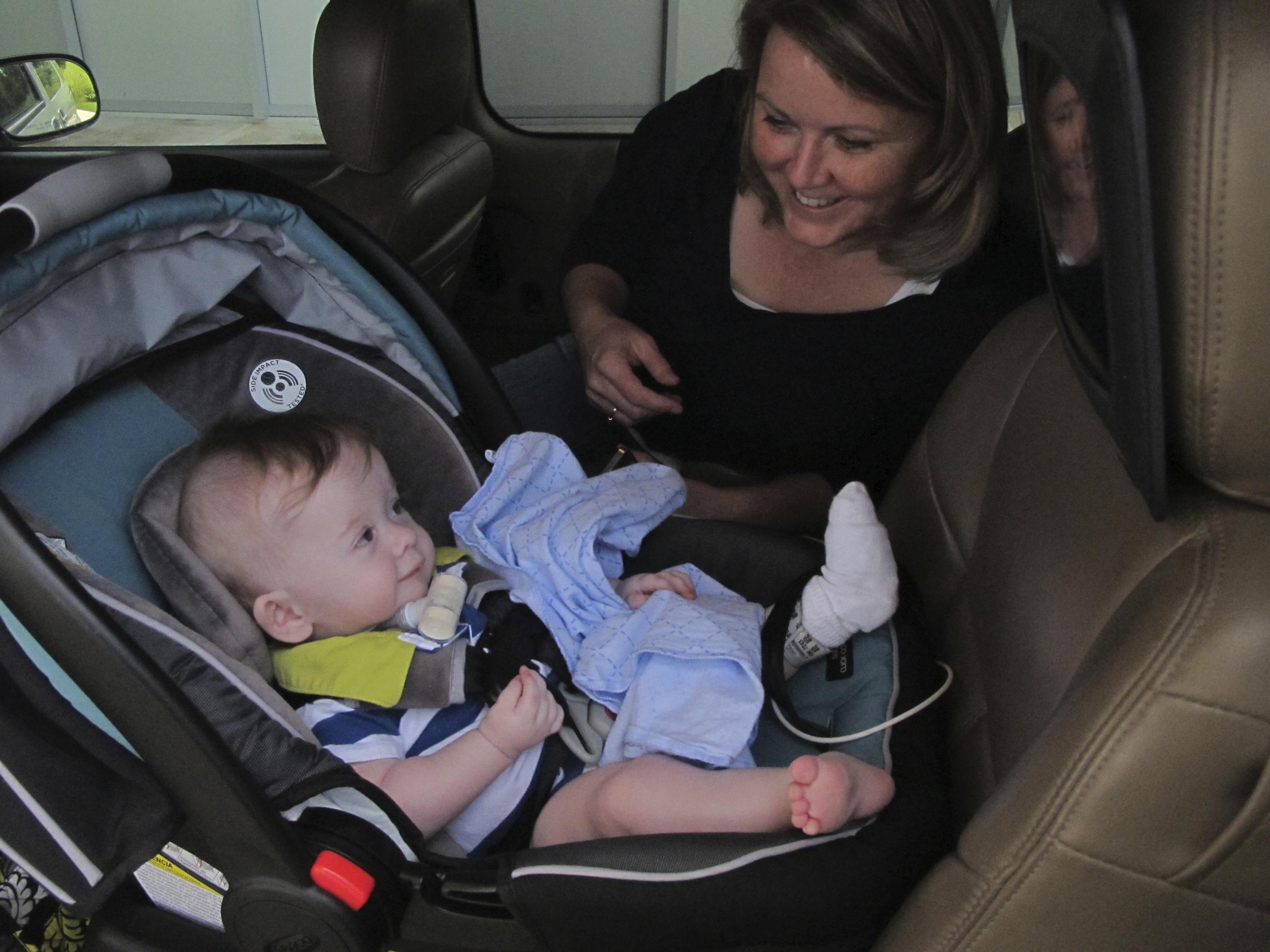Leaving Ranken Jordan Hospital, August 2013
