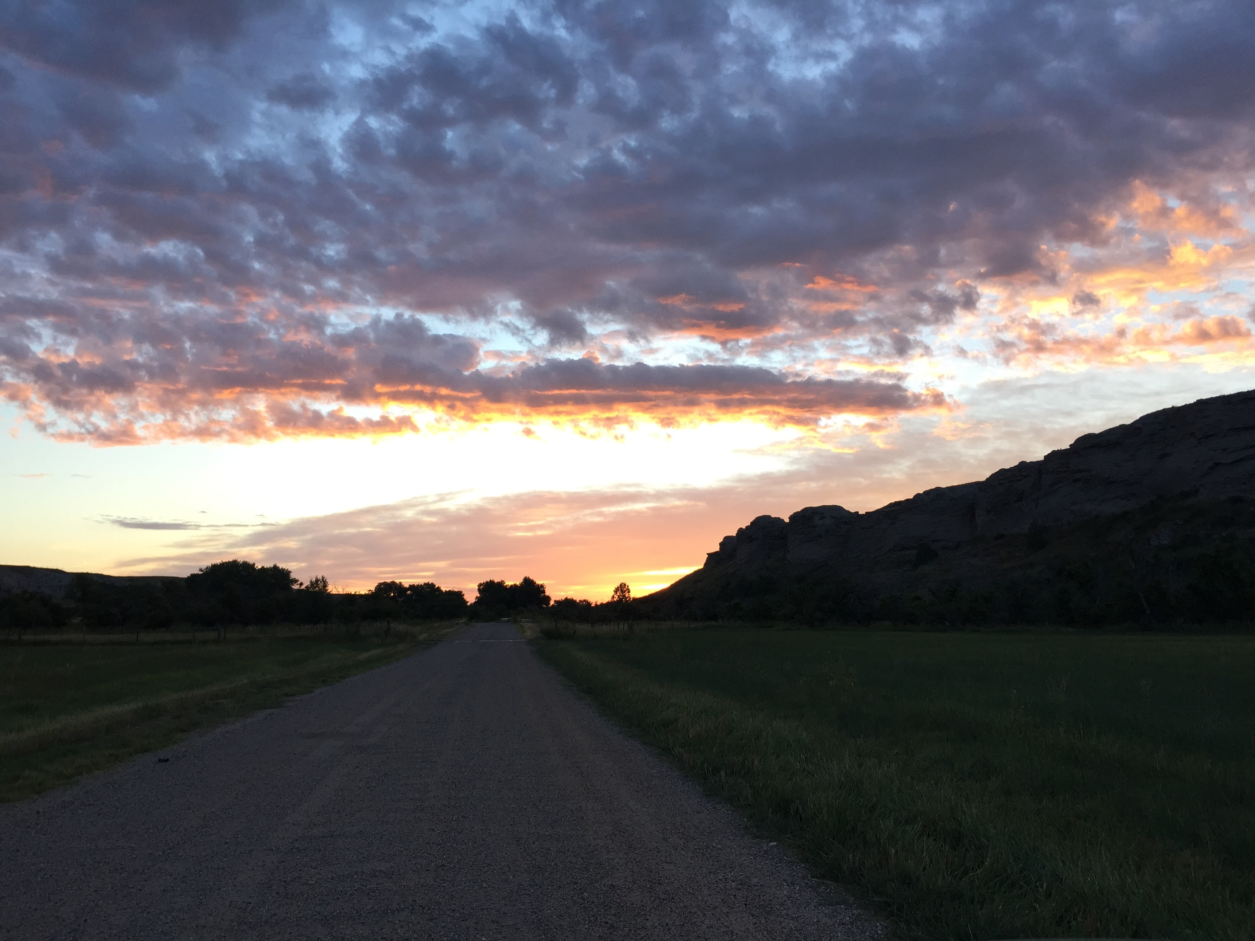 Leaving as the sunrises