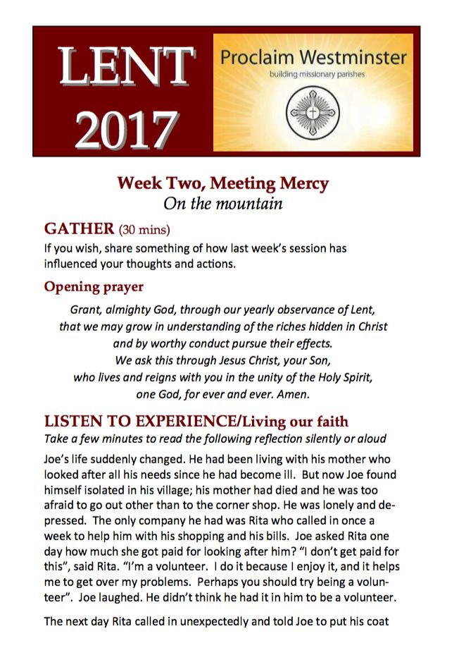 Lent 2017 Week 2
