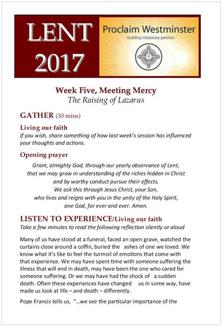 Lent 2017 Week 5