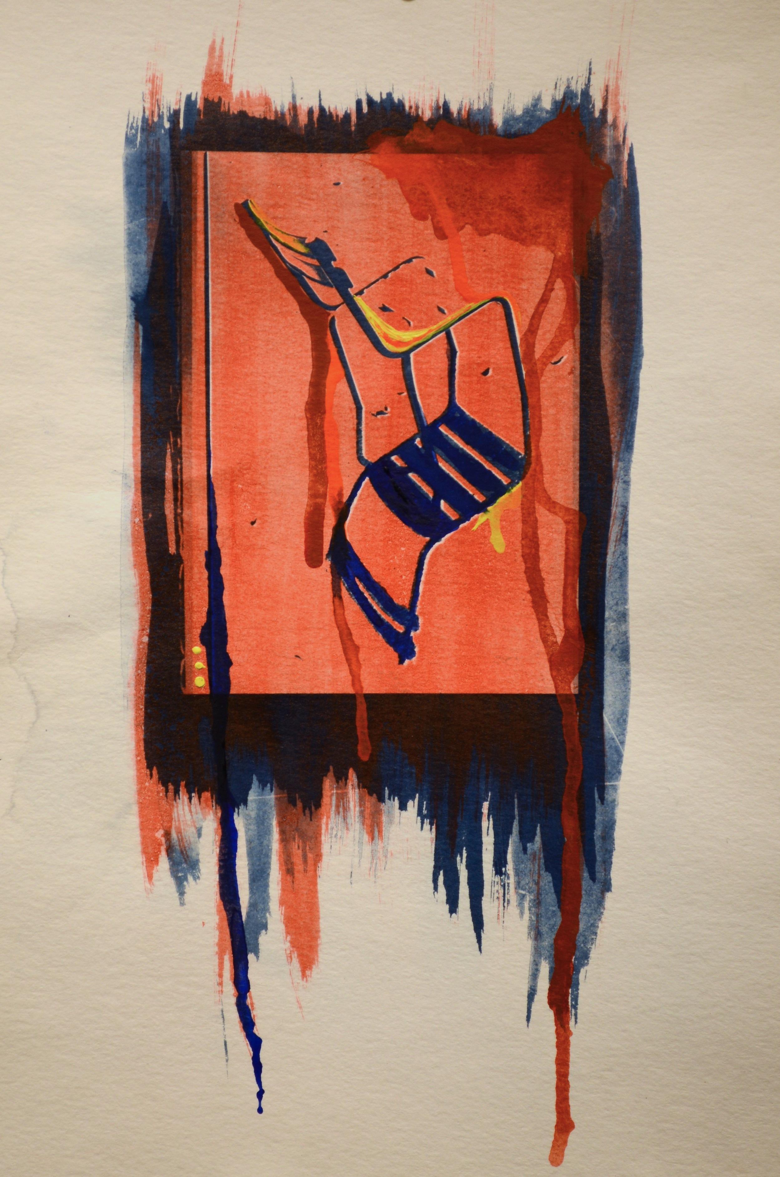 Cyanotype, Gum, watercolor details