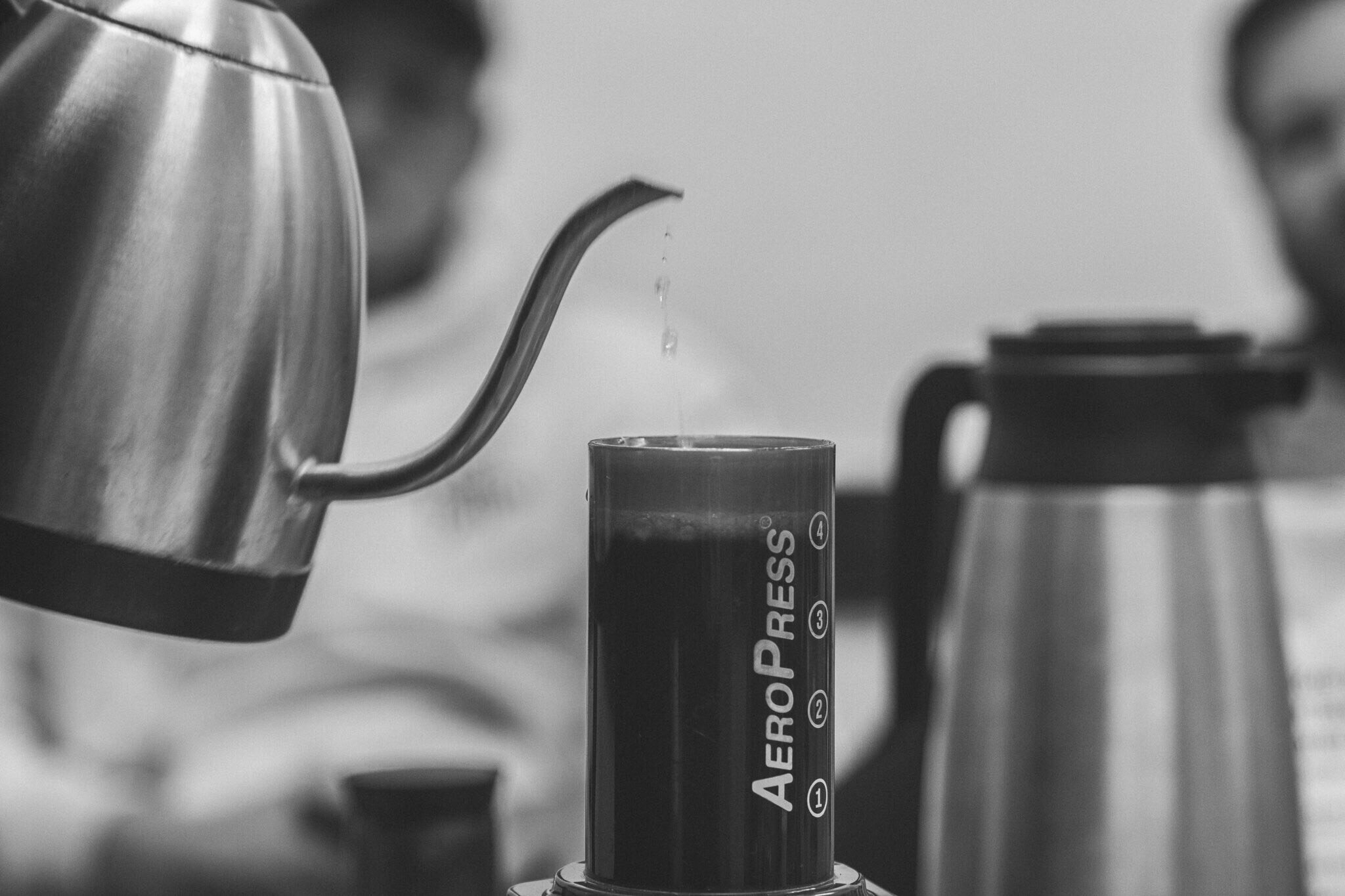 Brewing an AeroPress with a Bona Vita Kettle