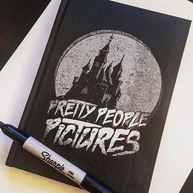 These notebooks are awesome! Grab one with ANY design on it at our TeePublic store. Link in our bio 💀🔪💀