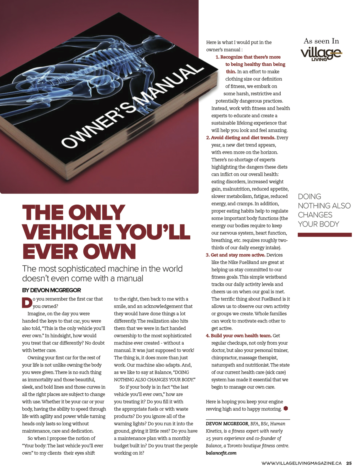 %22The Only Vehicle You'll Ever Own%22_Village Living Publication.jpg