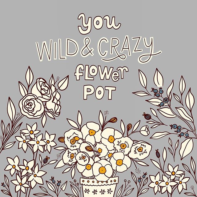 You Wild & Crazy Flower Pot 😍