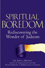 Erudite, passionate, illuminating, inspiring, and, above all, Jewish. Here one of the foremost Jewish educators of our time takes aim at spiritual boredom, and points the way to a life of wonder, creativity and engagement .   Jonathan D. Sarna, Joseph H. & Belle R. Braun Professor of American Jewish History, Brandeis University