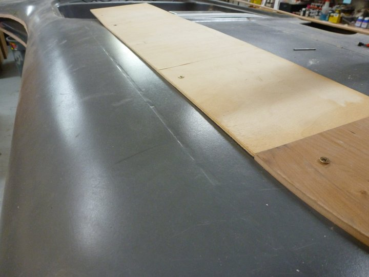 Here you can see the body panel line that was filled in, which I then cut out.