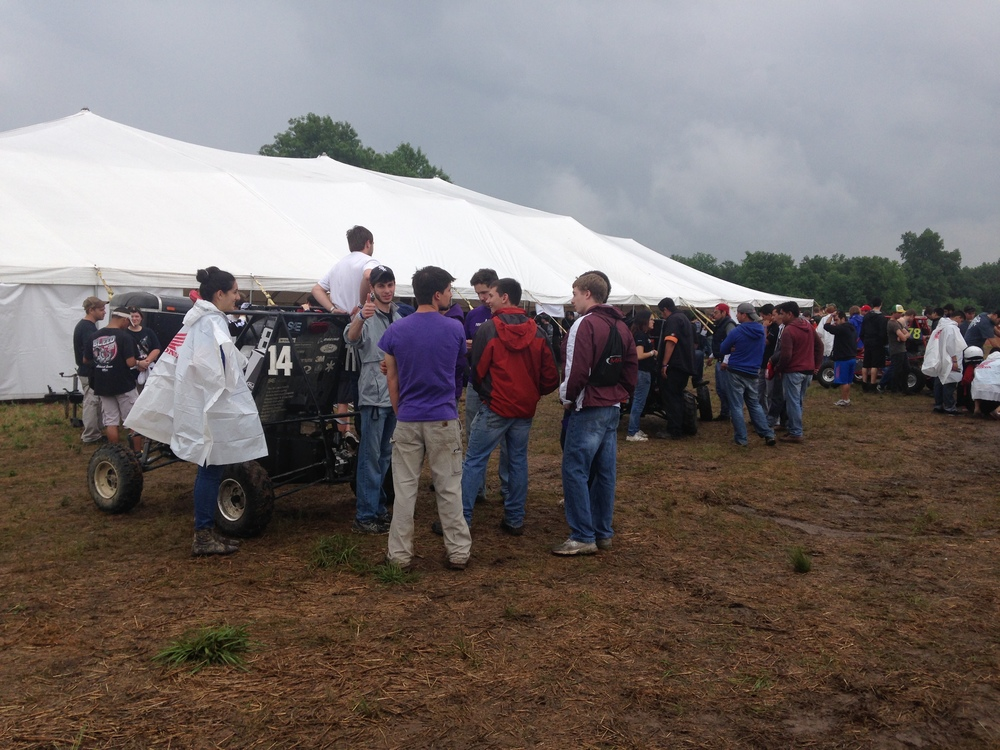 Waiting in line for Tech Inspection