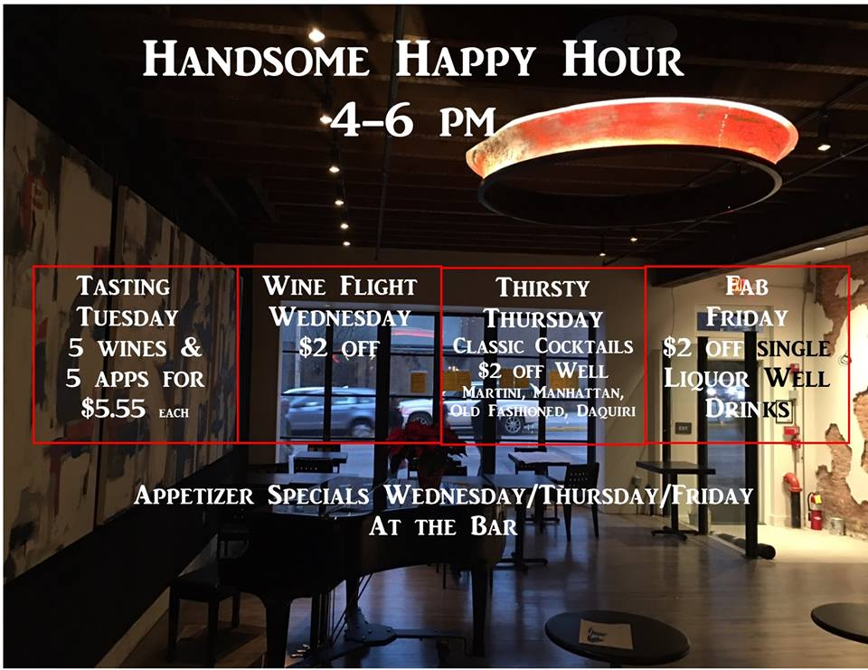 The Handsome Cab Happy Hour