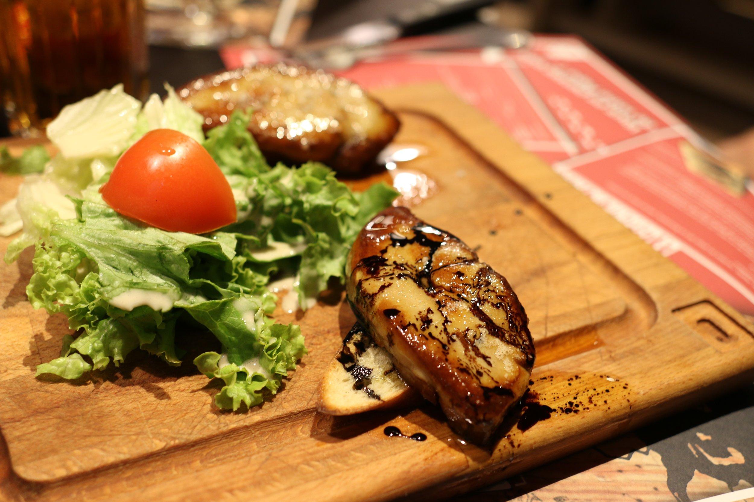 Foie Gras at Chez Papa.