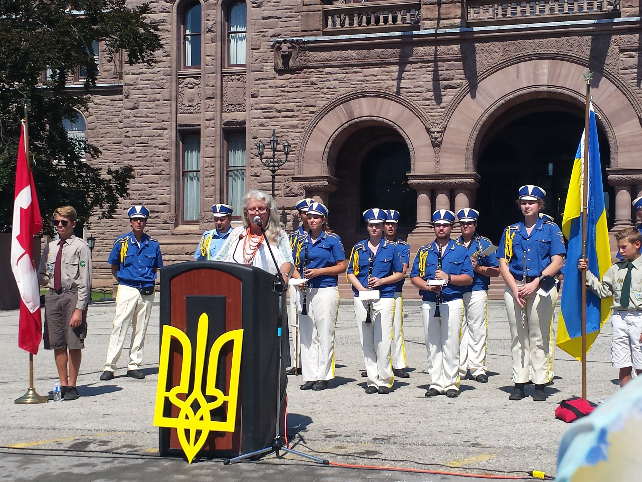 Flag Raising at Ontario Legislature - August 24, 2016