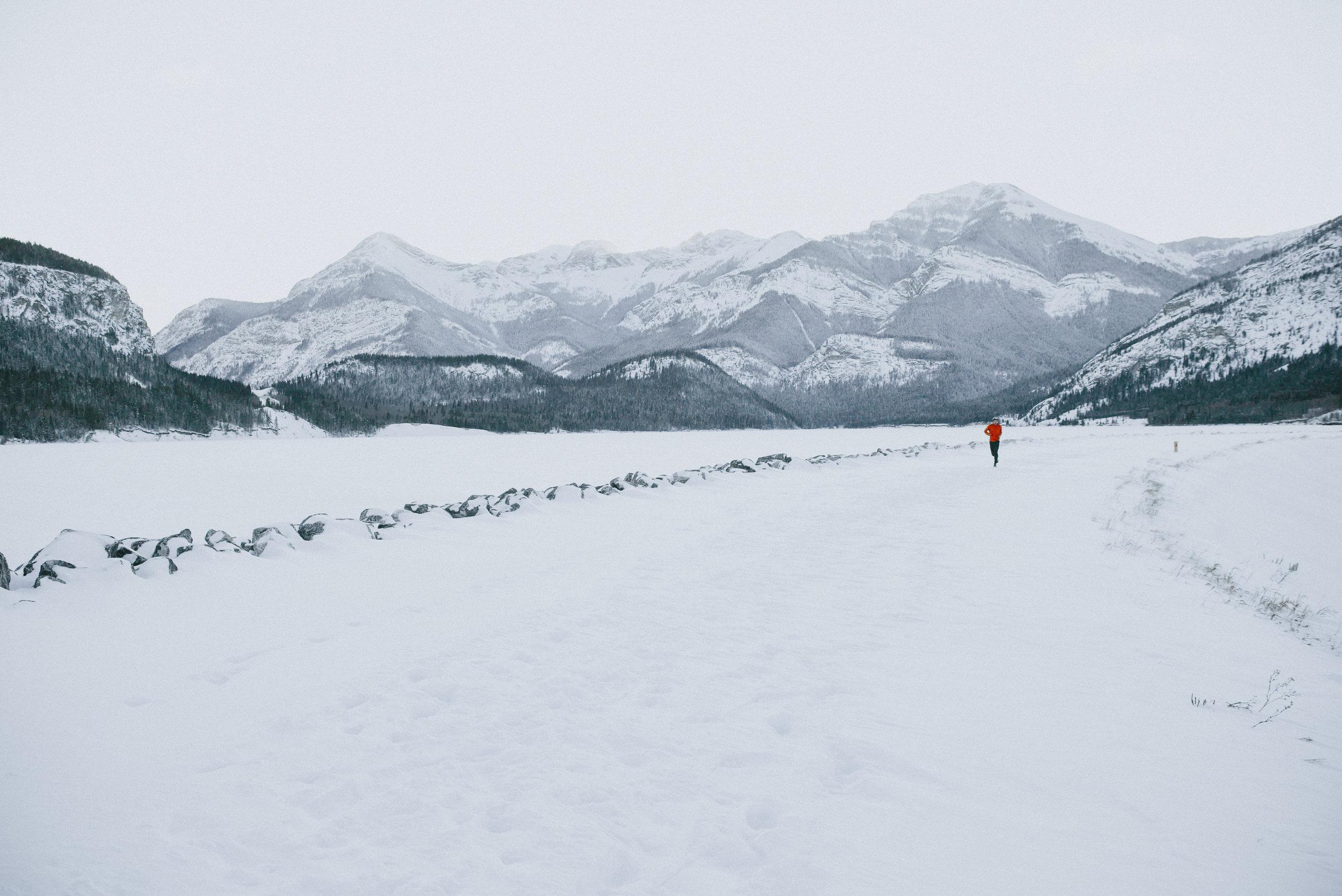 02/22/2019 Unknown Jogger, Barrier Dam, Kananaskis, Alberta