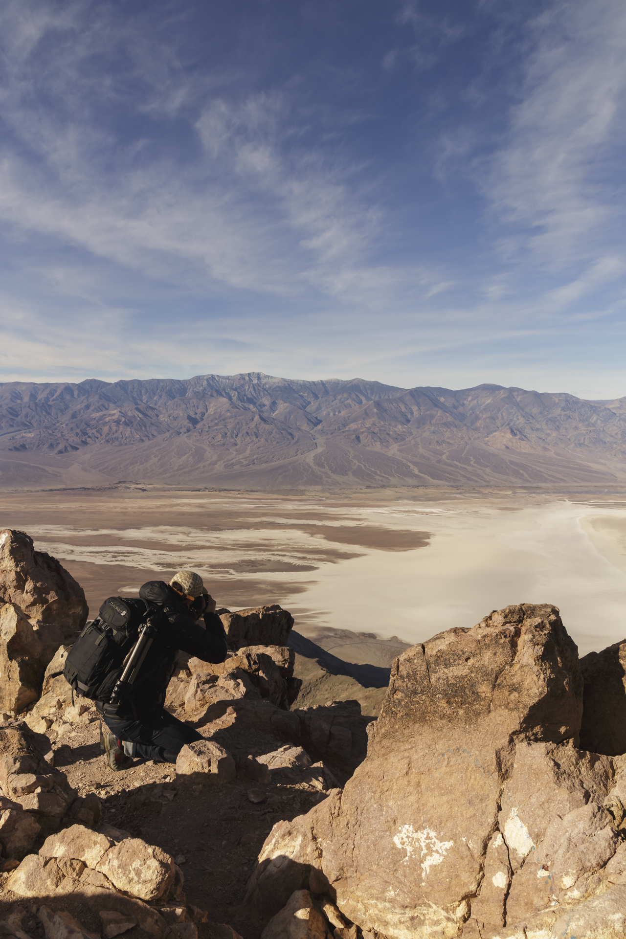 Framing the valley floor in the younger rock on the peaks around Dante's View. Death Valley National Park, Near Death Valley Junction, CA.