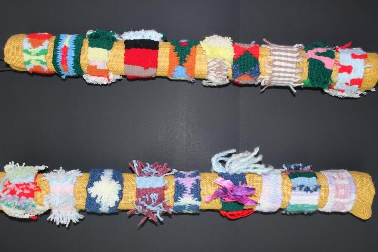 Sixth grade wristband weavings
