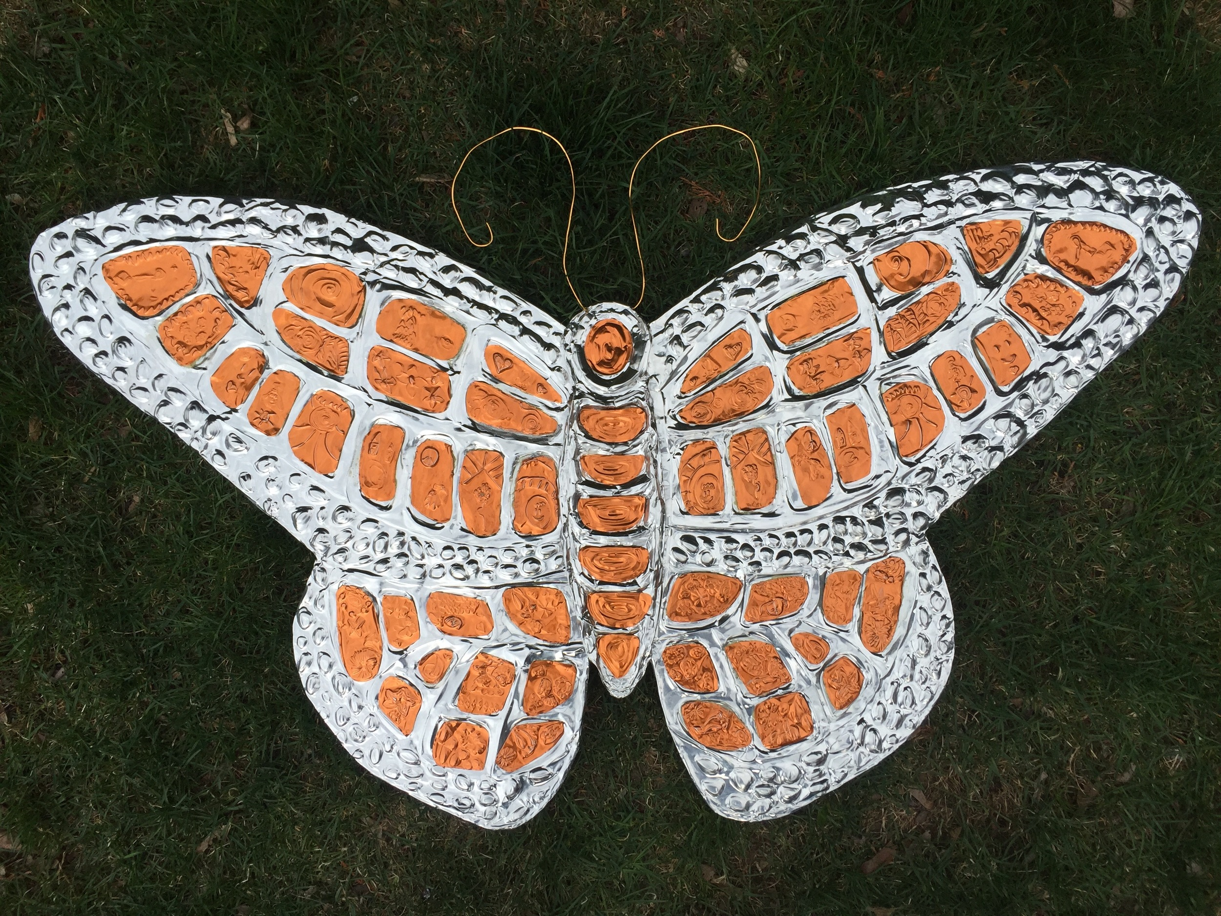 Butterfly mosaic for Children's Hospital