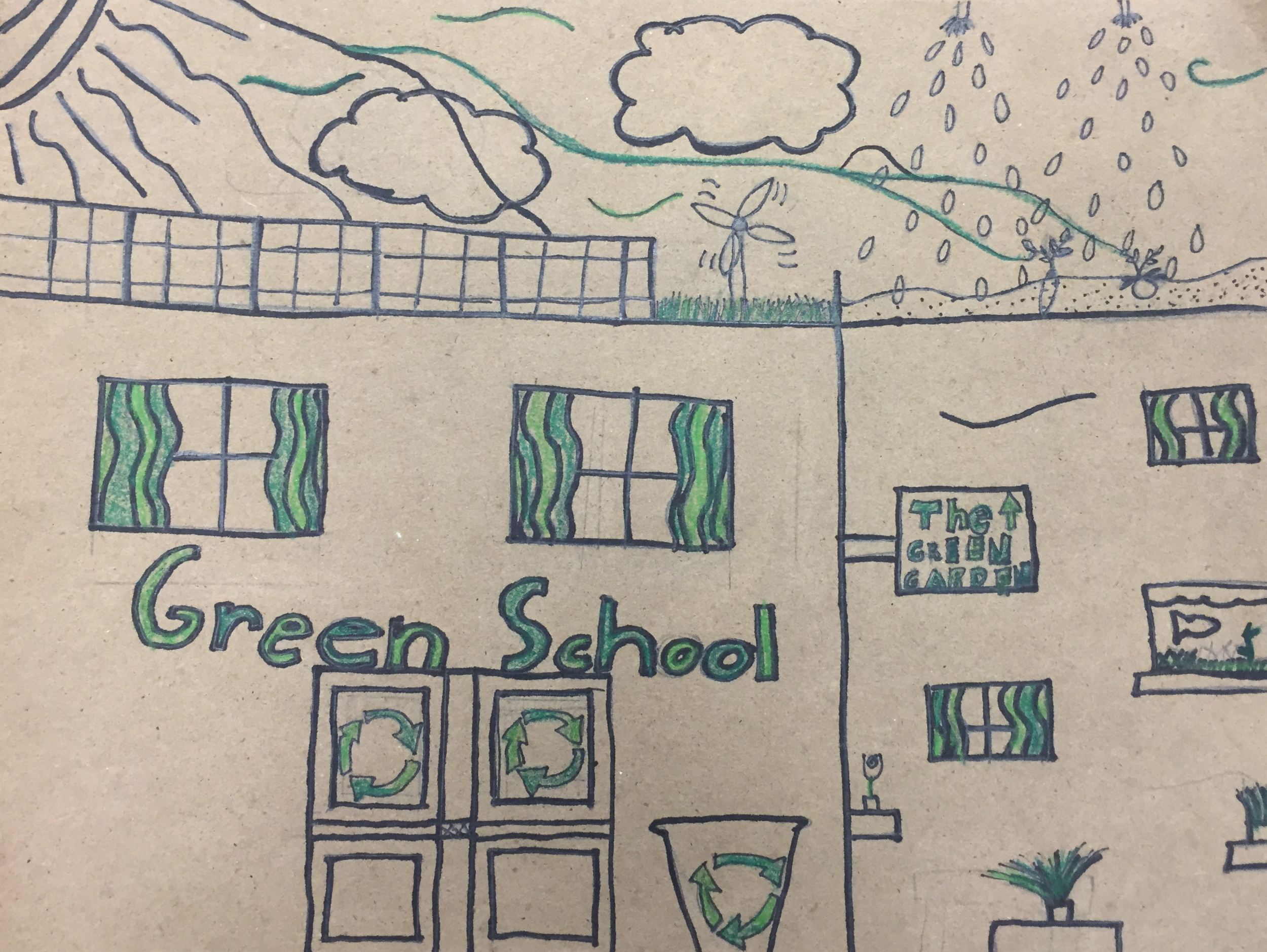 "1st place in the 2016 ""My Green School Art Contest"" hosted by the U.S. Green Building Council, Detroit Regional Chapter"