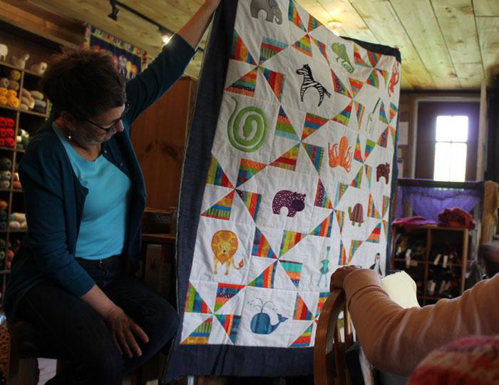 Linnet's vibrant animal quilt