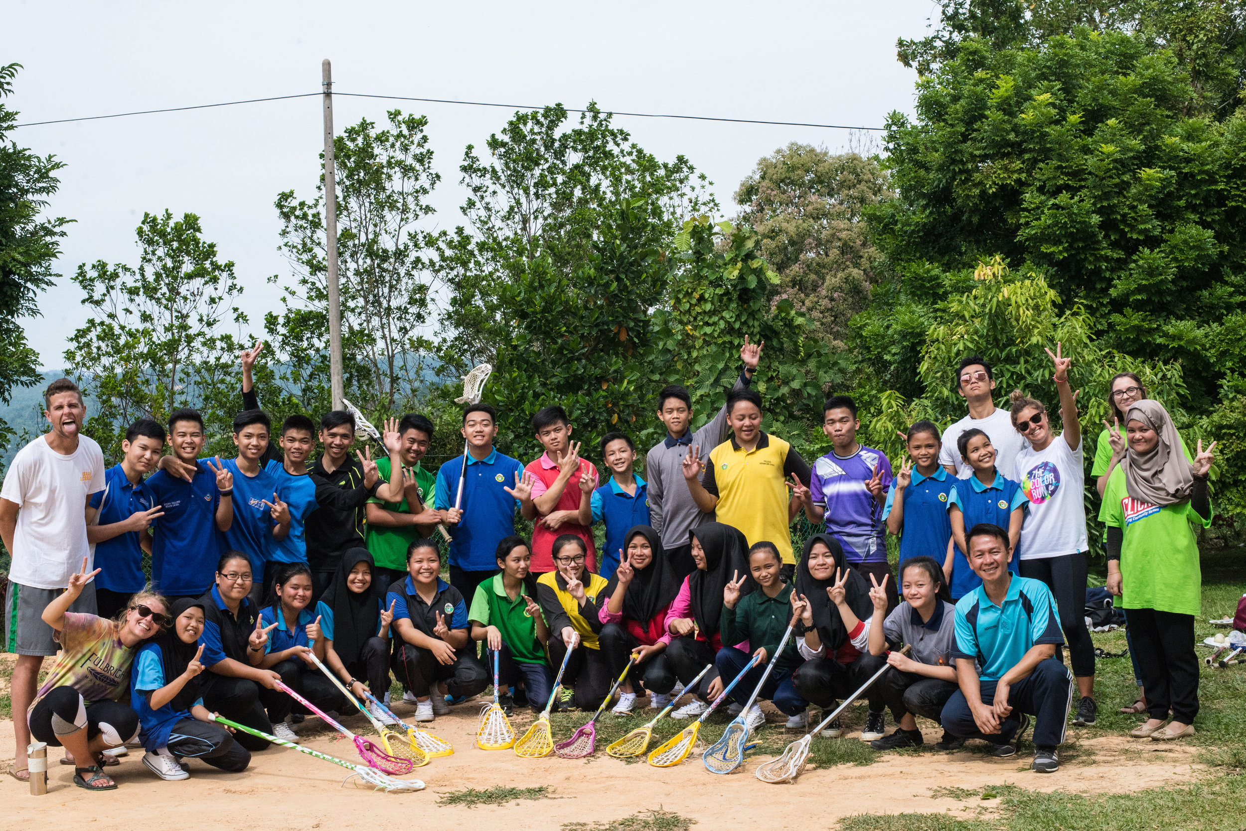 SMK Ranau lacrosse club students and faculty