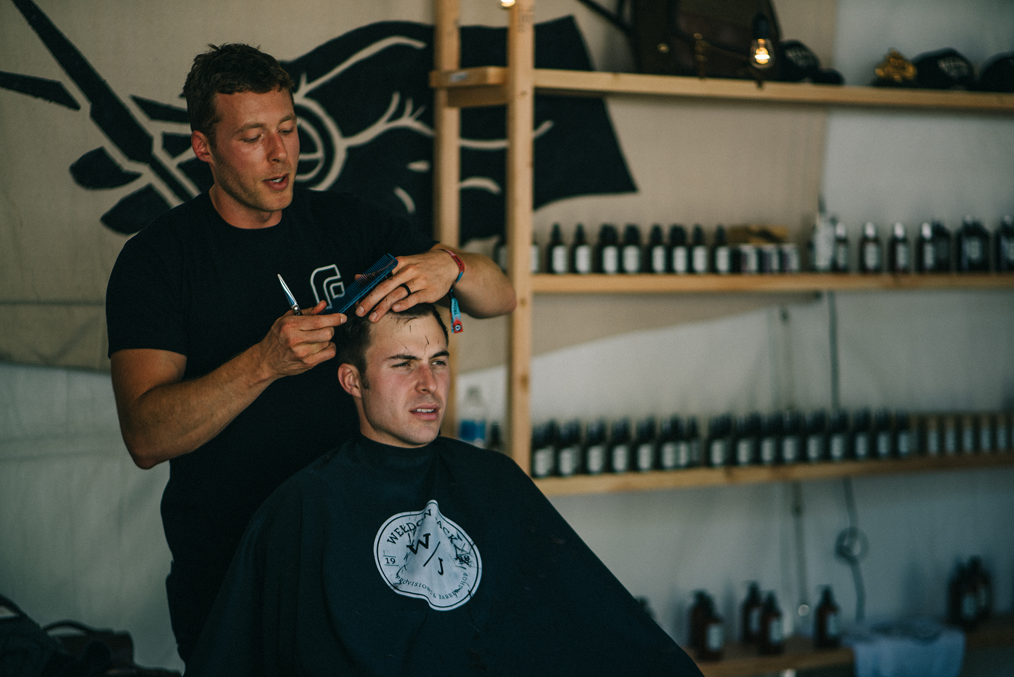 Hair cuts from our friends at Weldon Jack going on all weekend!