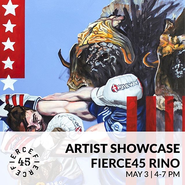 Pairing two things that feed every part of my body and soul this week; art and fitness. Showing my work at Fierce45 in RiNo. Catch me there for some light bites and drinks from 4-7pm this Friday!!! . . . . #fierce45 #firstfriday #showcase #popup #artwork #artdisplay #artwalk #discoverart #artistpopup #rinoartdistrict #denverart #visitmehere