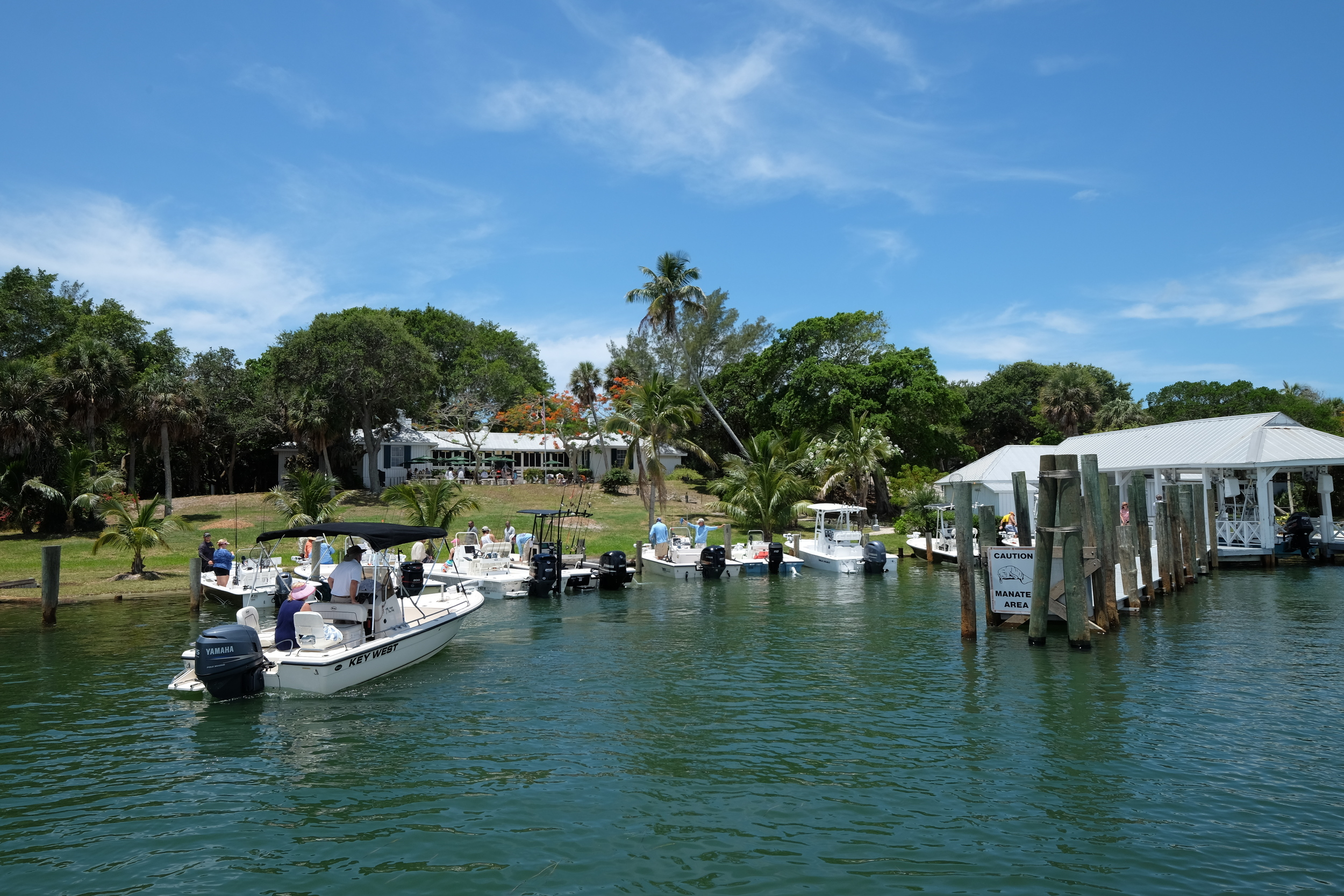 The only way to arrive on Cabbage Key... by boat!