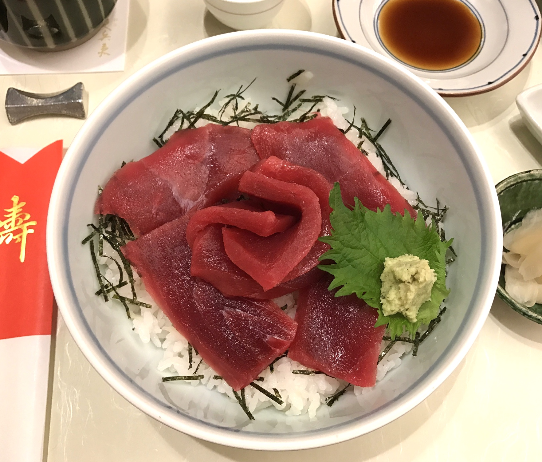 Look at this sushi at Ginza Kyubey! The best tuna we've ever had!