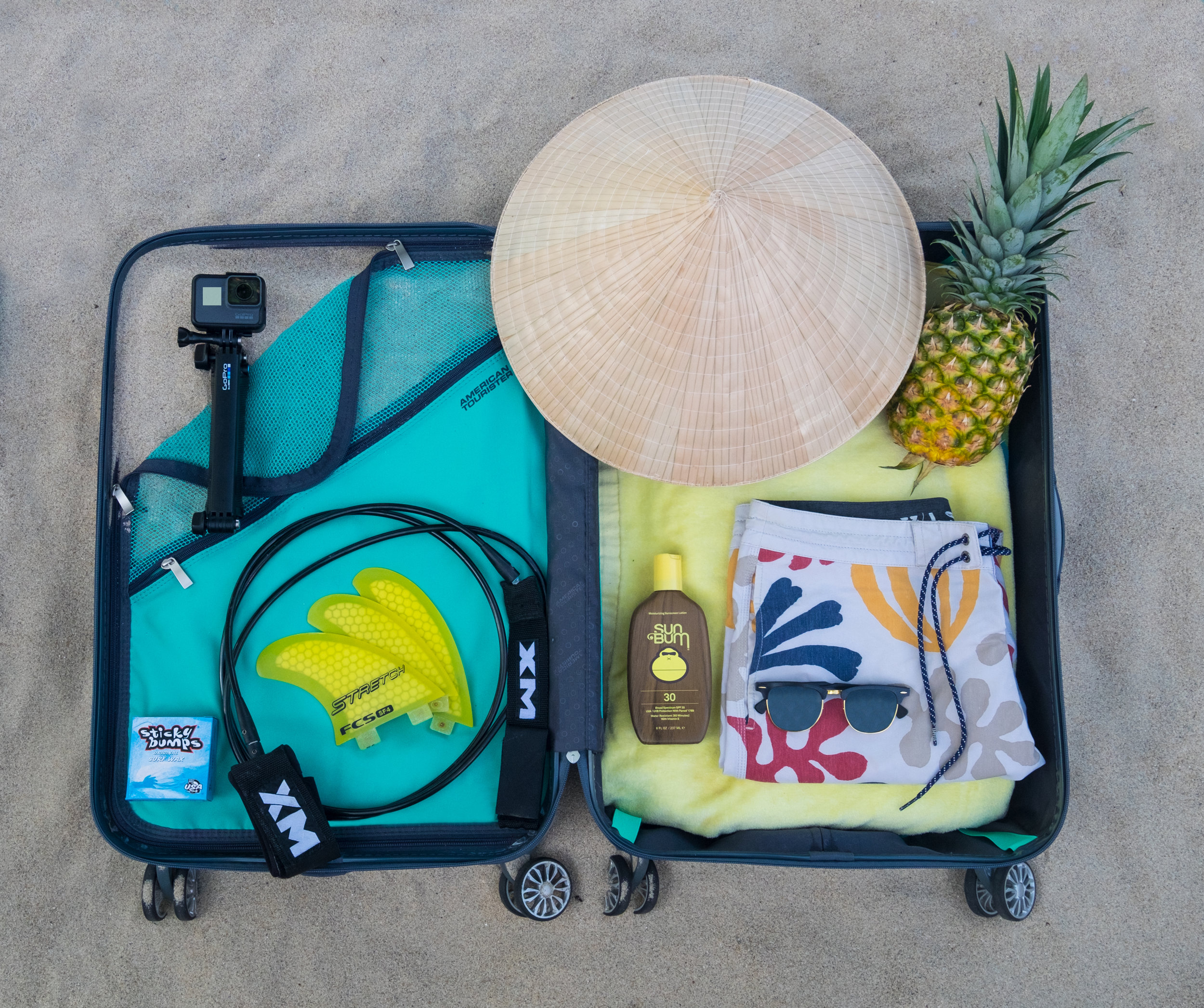 Travel Bags Pineapple Tropical Paradise Portable Duffel Trolley Handle Luggage Bag