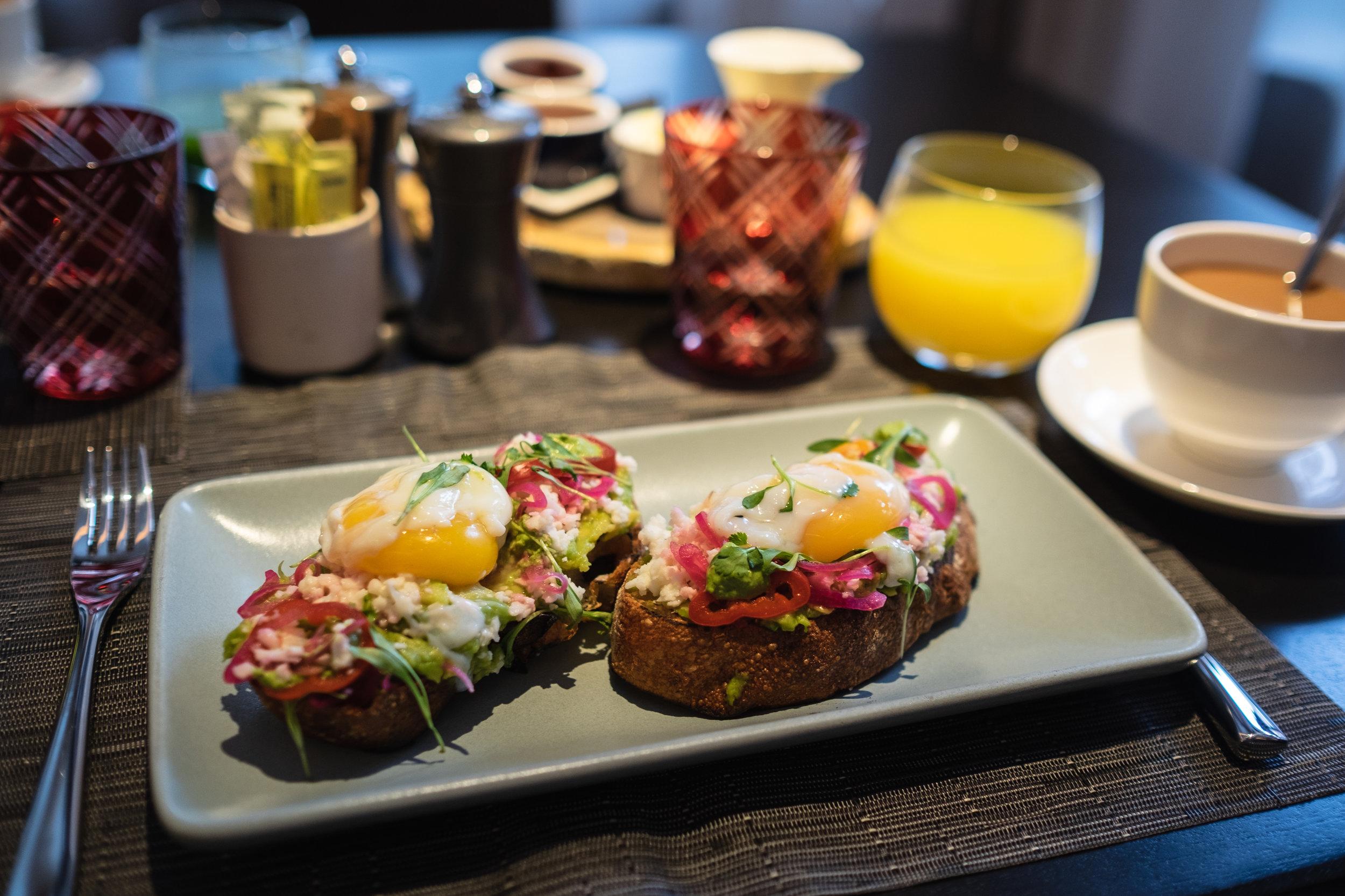 Beautiful breakfast at Element 47