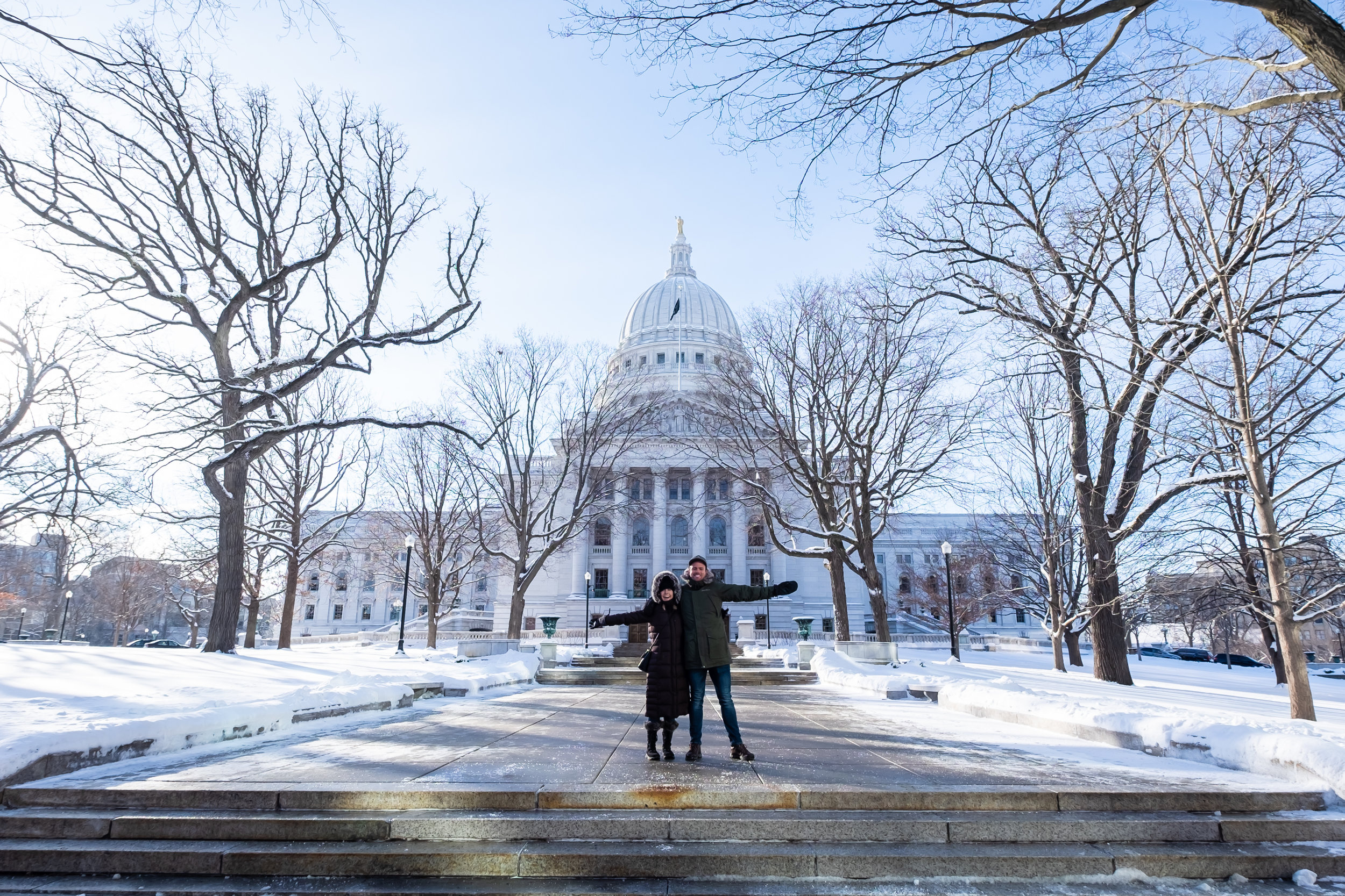 Great photo opps in front of the Capitol building!