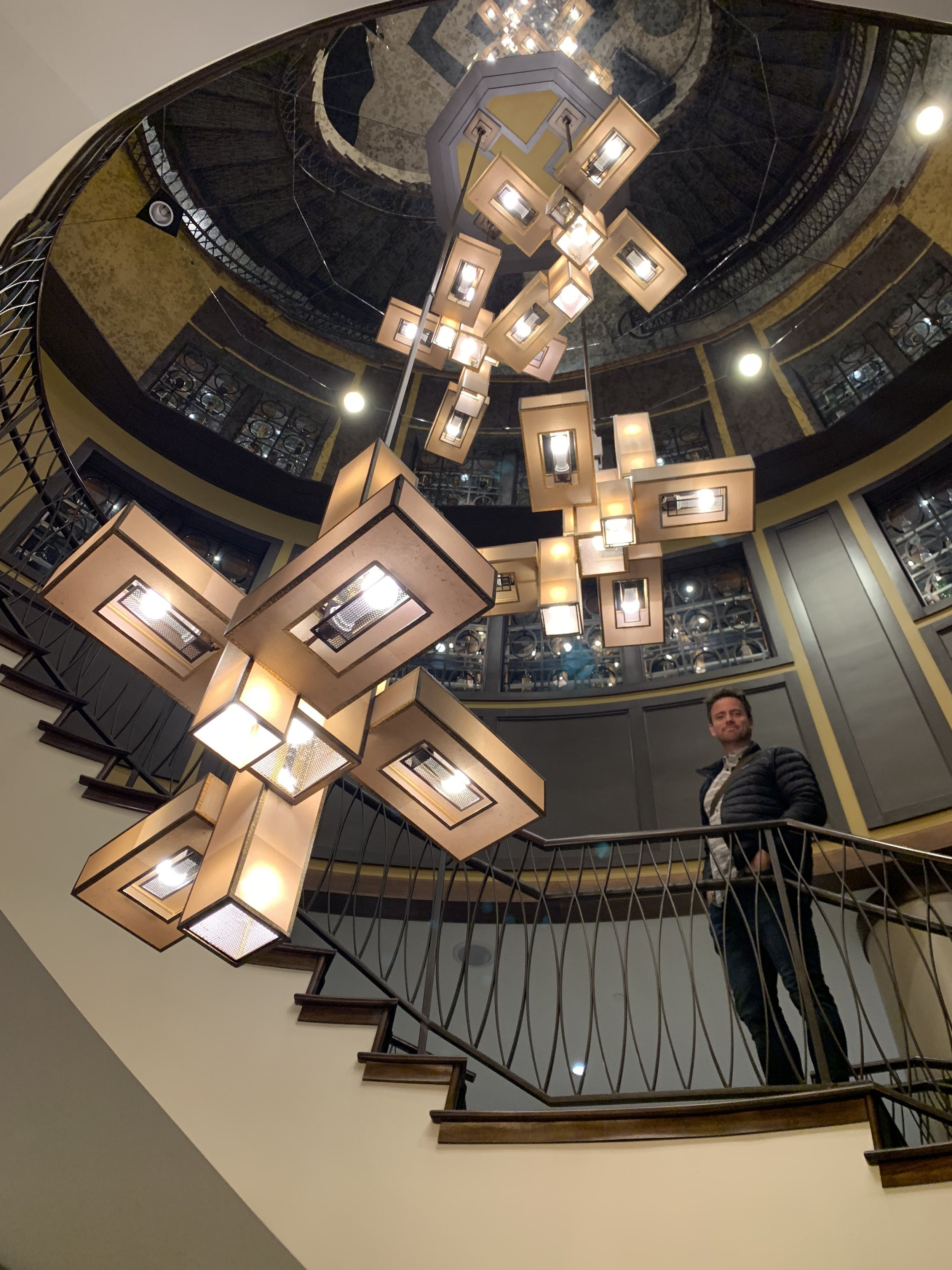 The staircase inside the Edgewater is beautiful!
