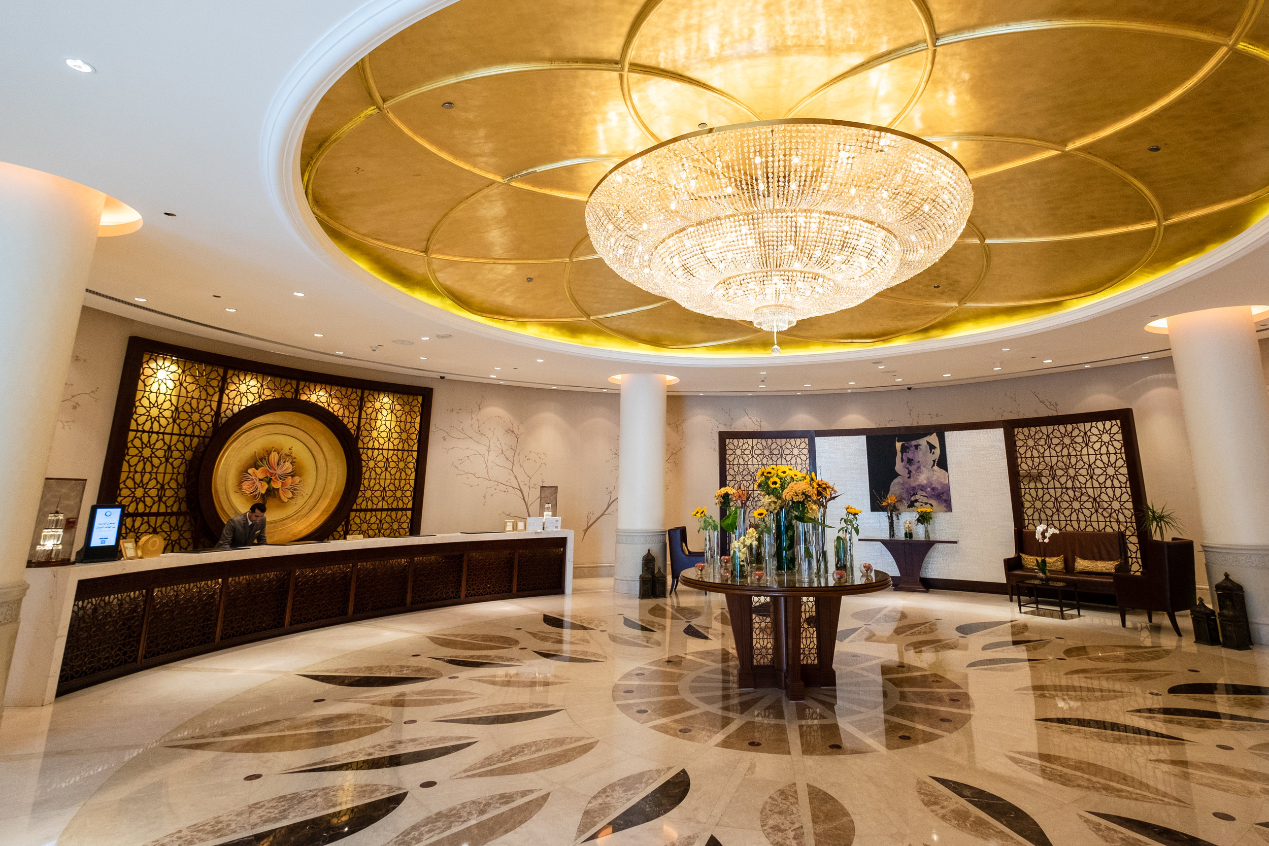 Stunning lobby of the Shangri-La
