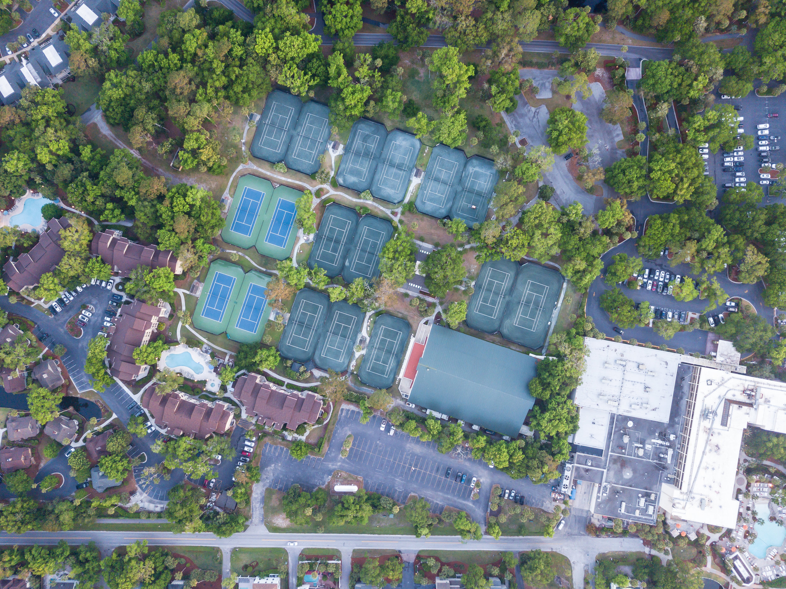 Incredible tennis center near Sonesta Resort