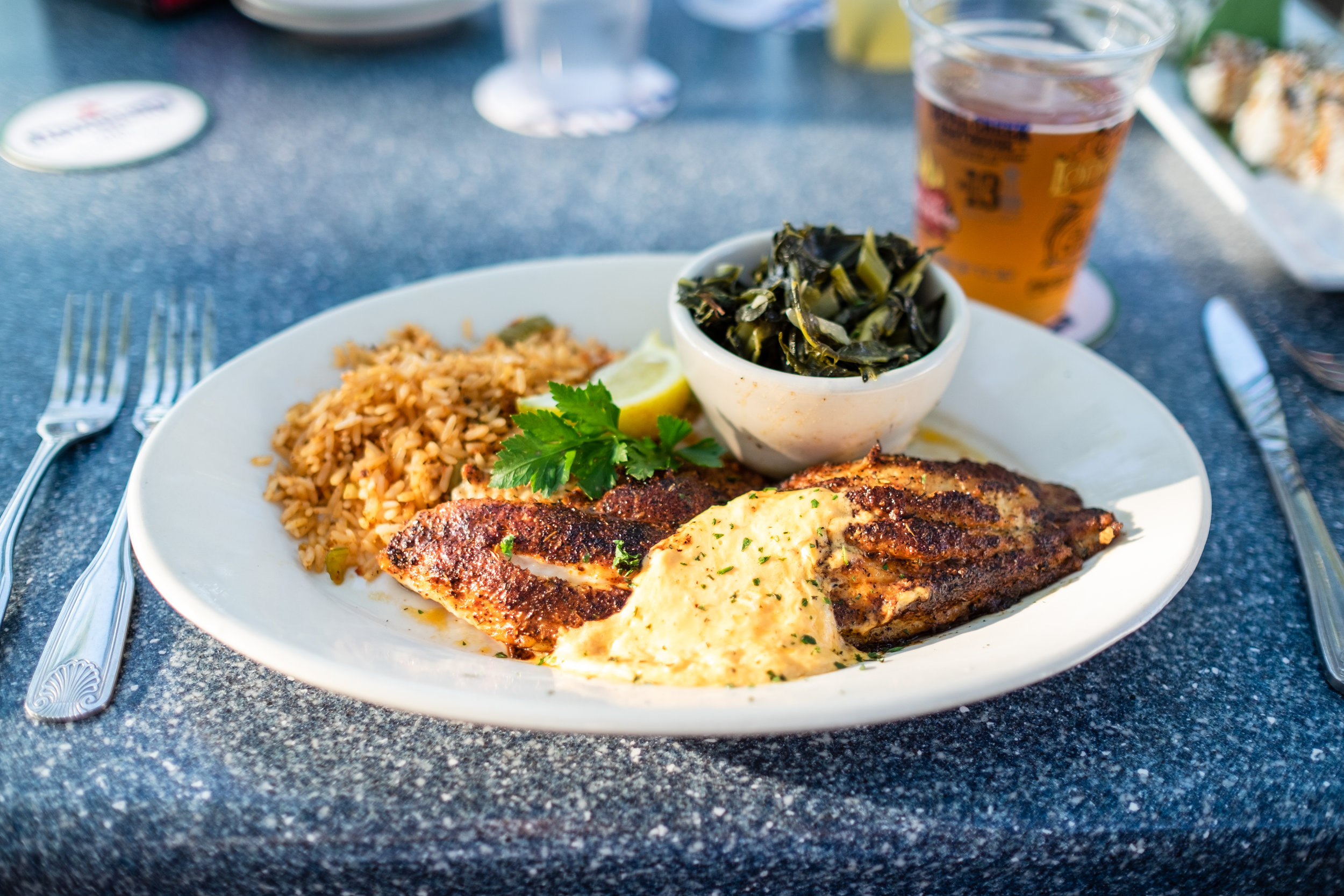 The Blackened Carolina Catfish was literally the BEST food I had during our entire 40 day road trip.