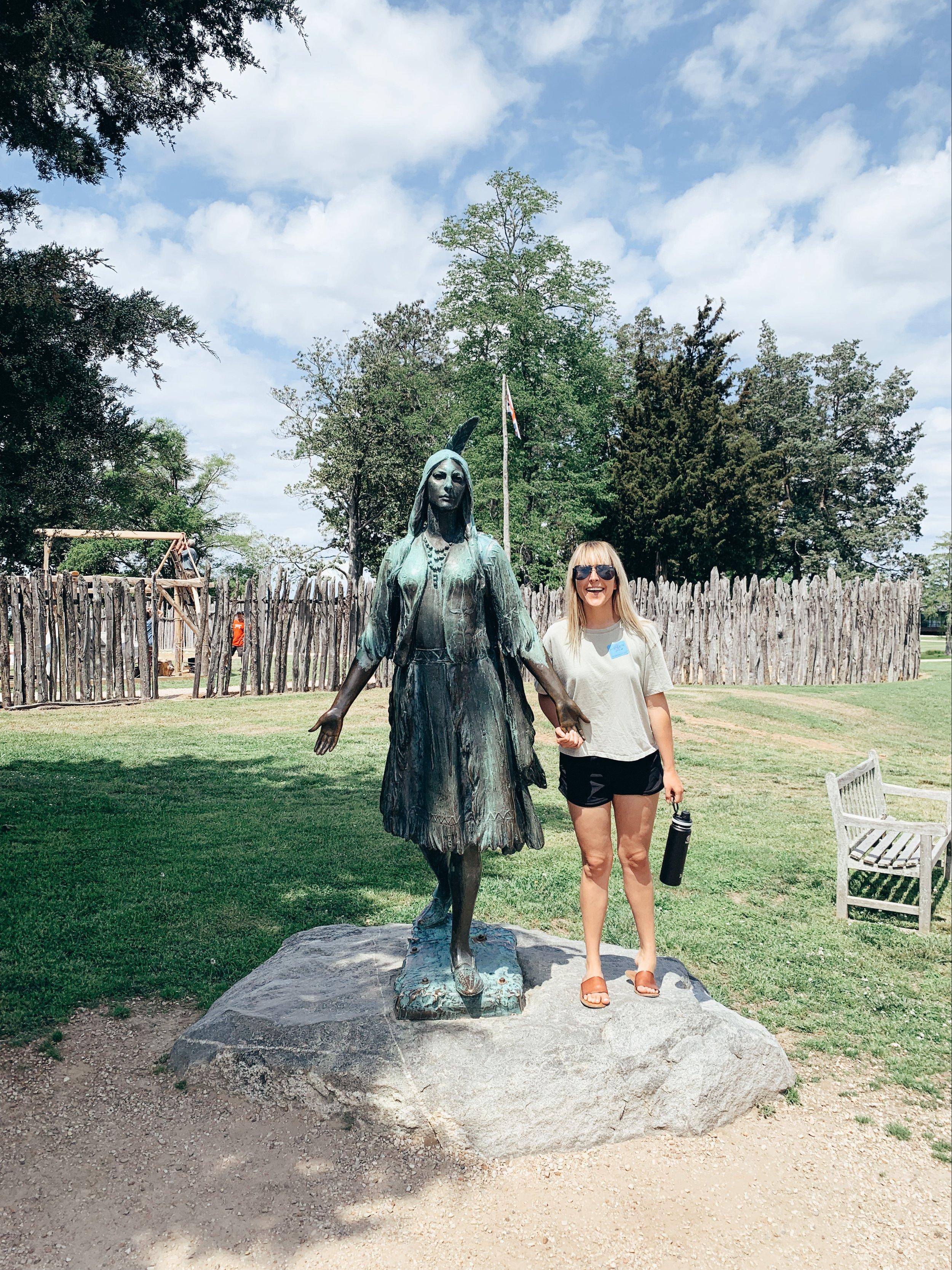 Alli with Pocahontas