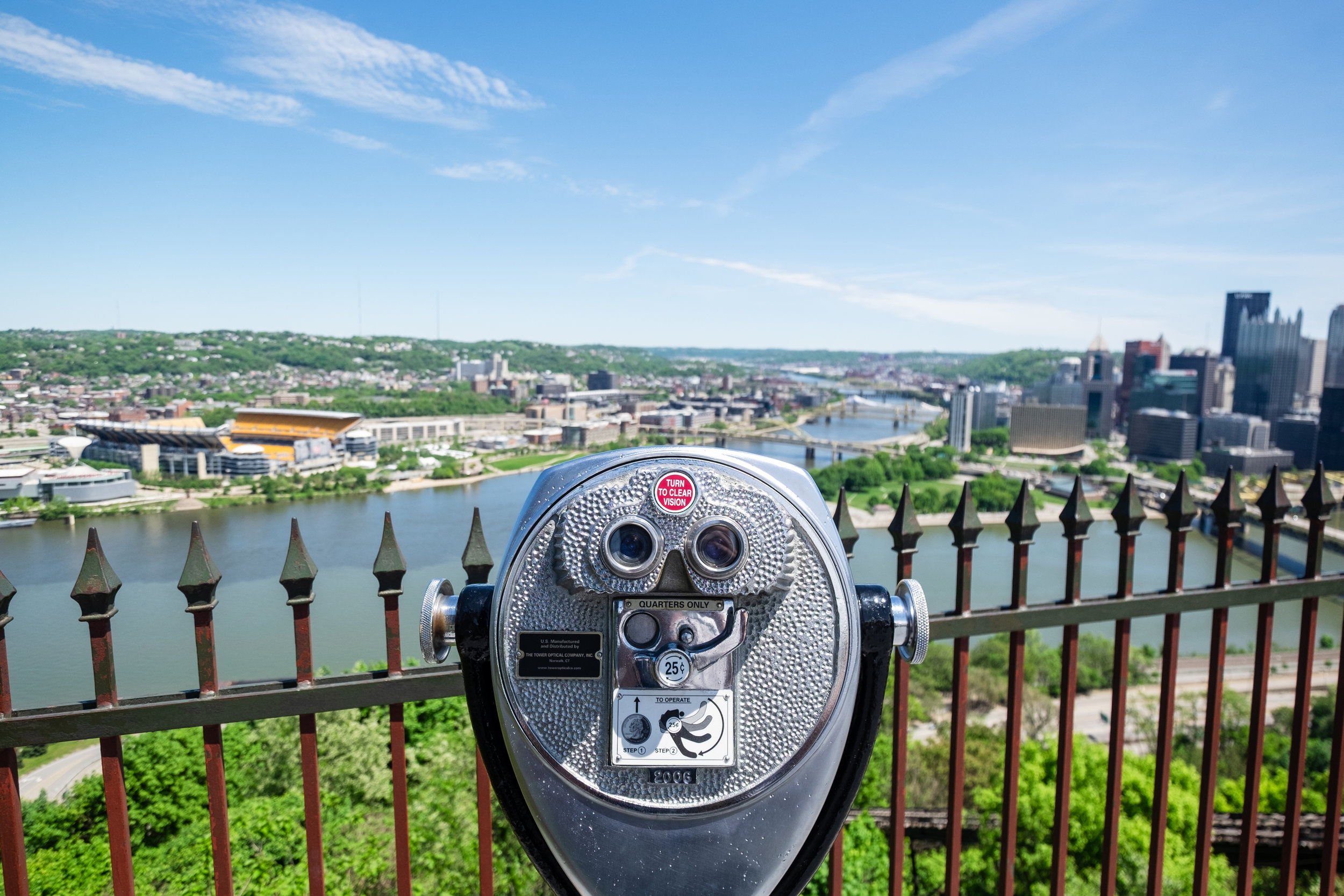 Amazing view from the top of the Duquesne Incline