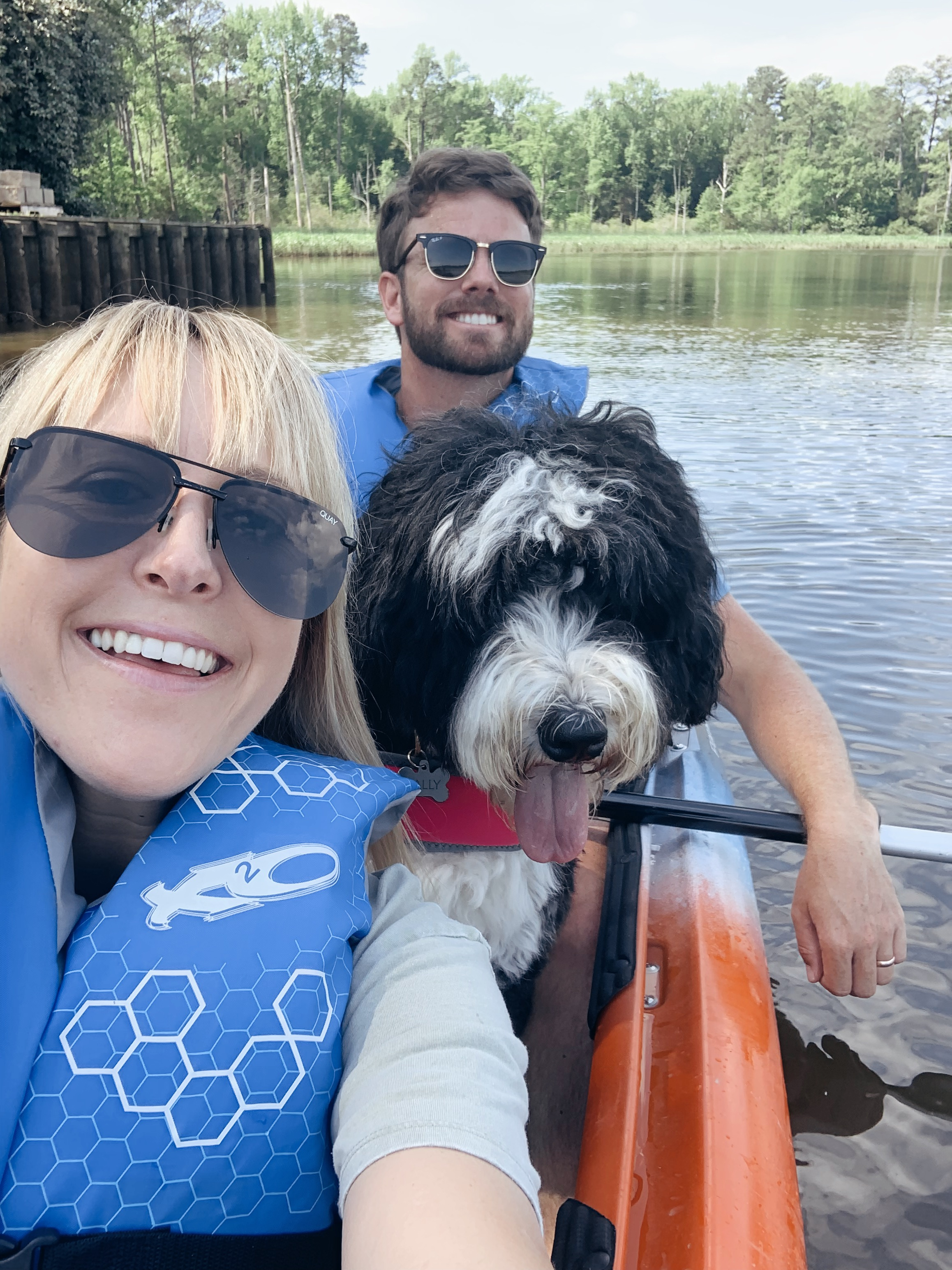 Kayaking with your pup is quite the experience! Ha!