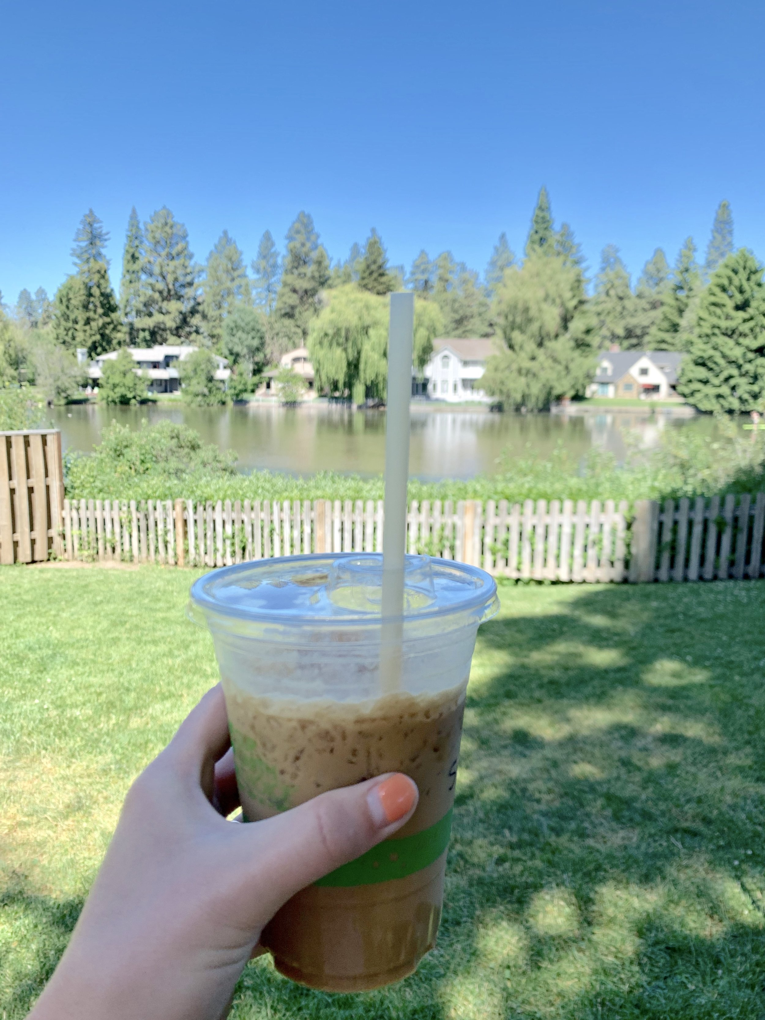 Here for the coffee and the views at Looney Bean!