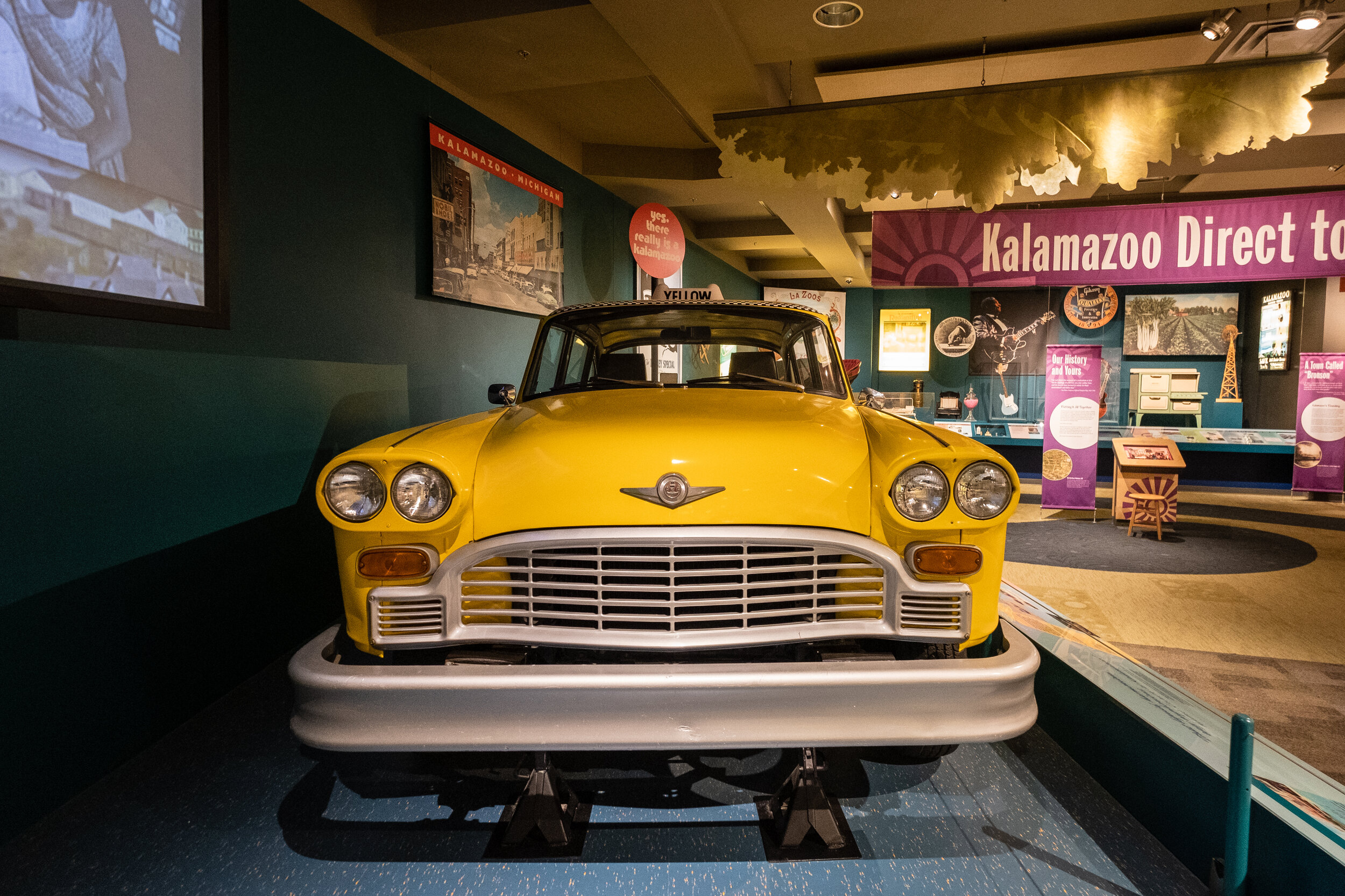 The checker cab started in Kalamazoo! There's one in the Kalamazoo Valley Museum!