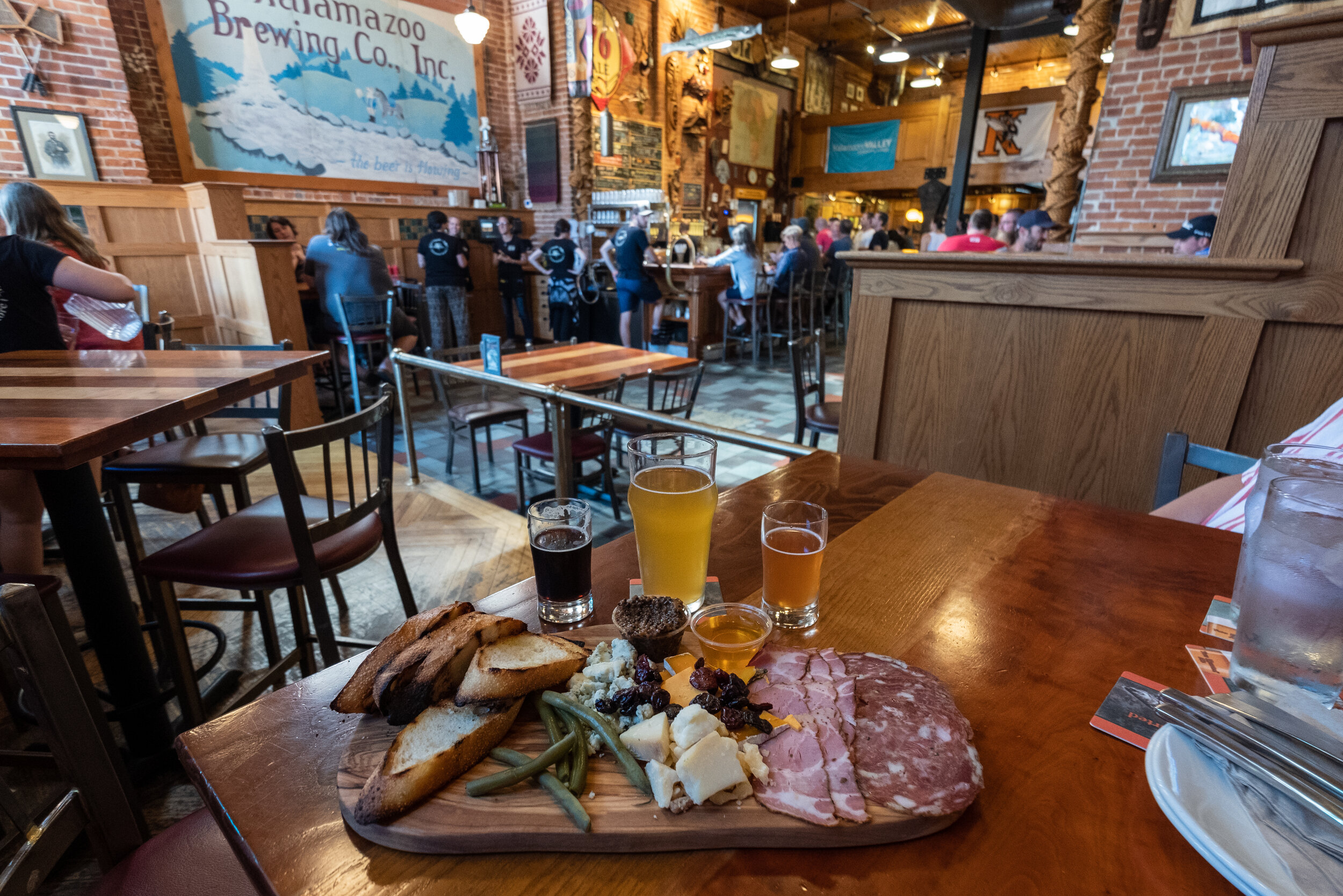 The beer at Bell's is delicious, and the charcuterie board is insane!