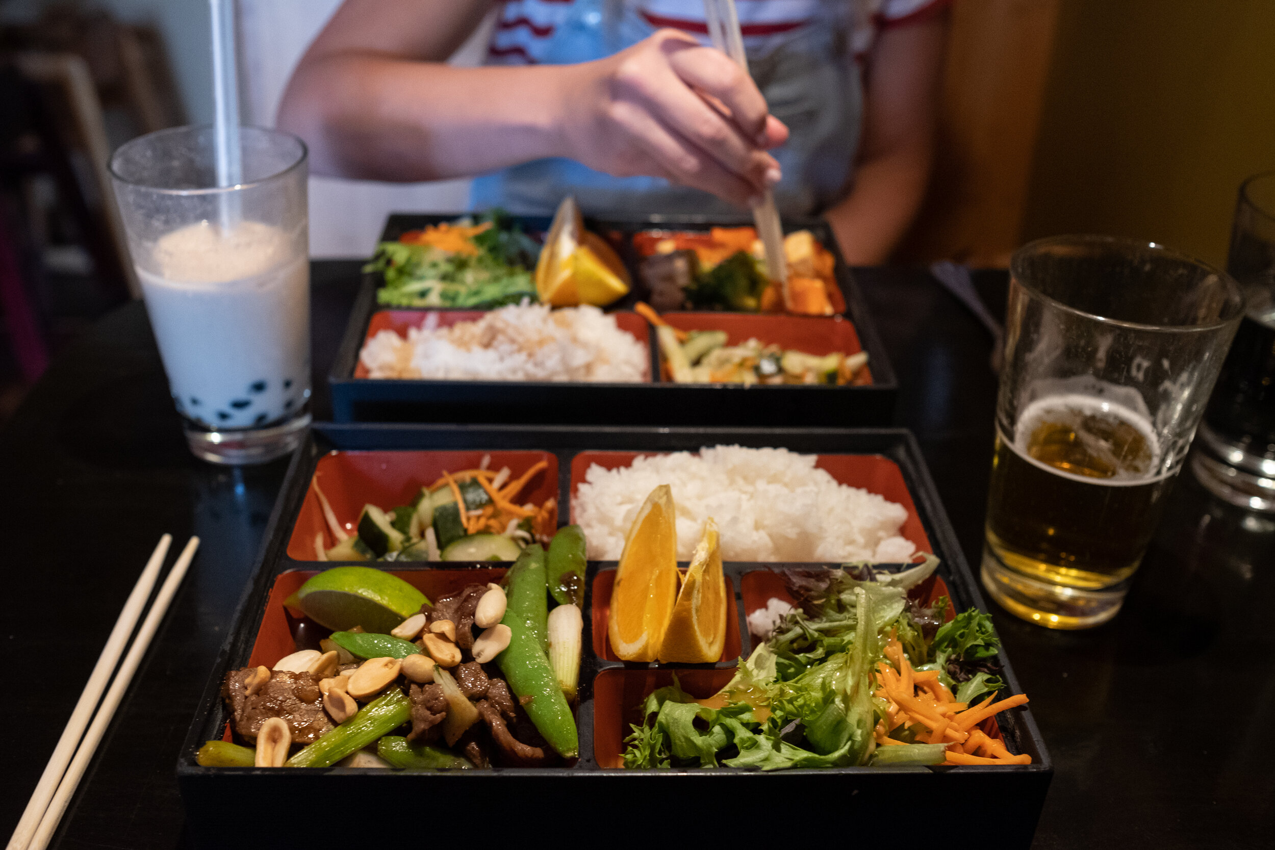 Go to Iza for the bento boxes!