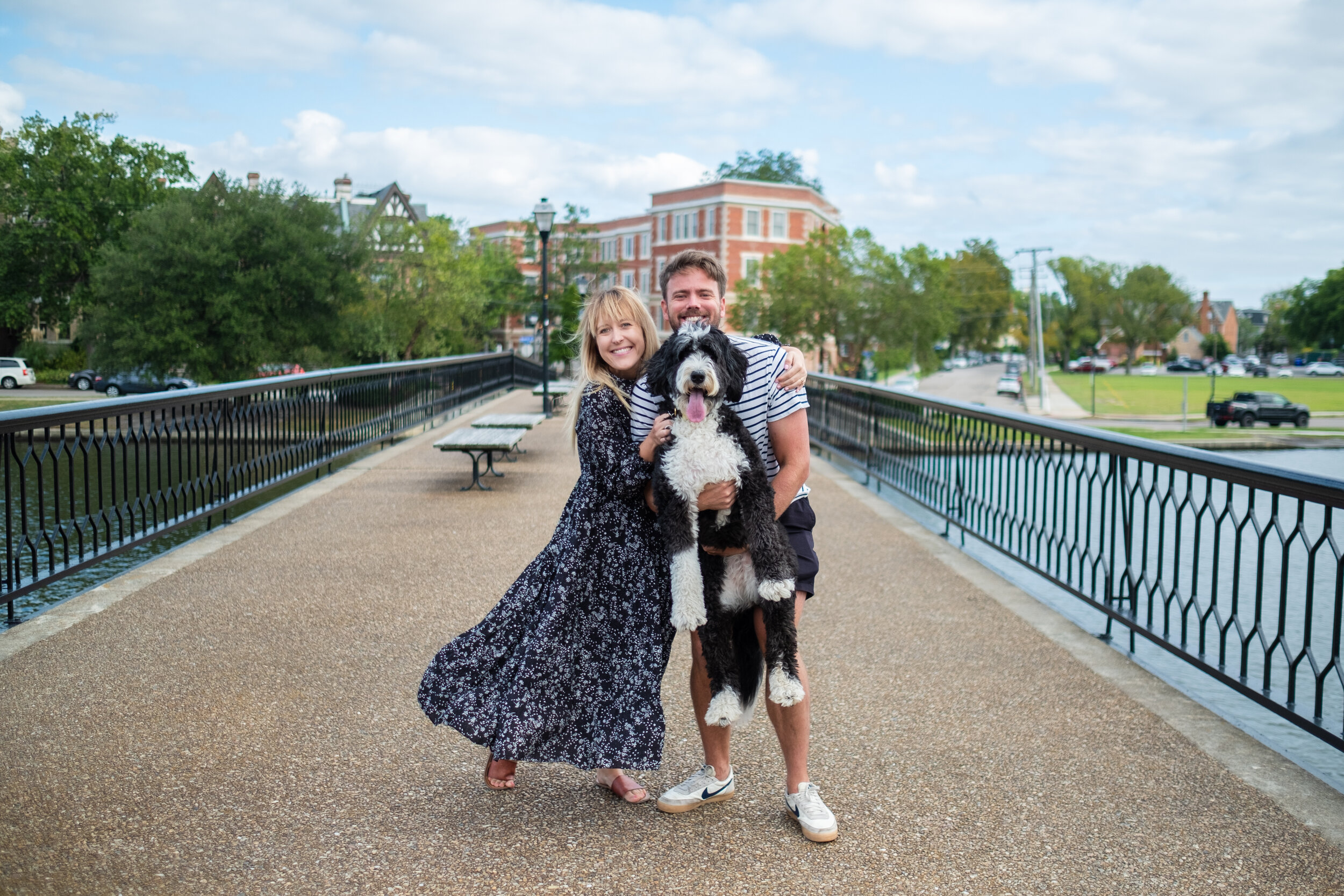 Family photo from our walk on the Elizabeth River Trail