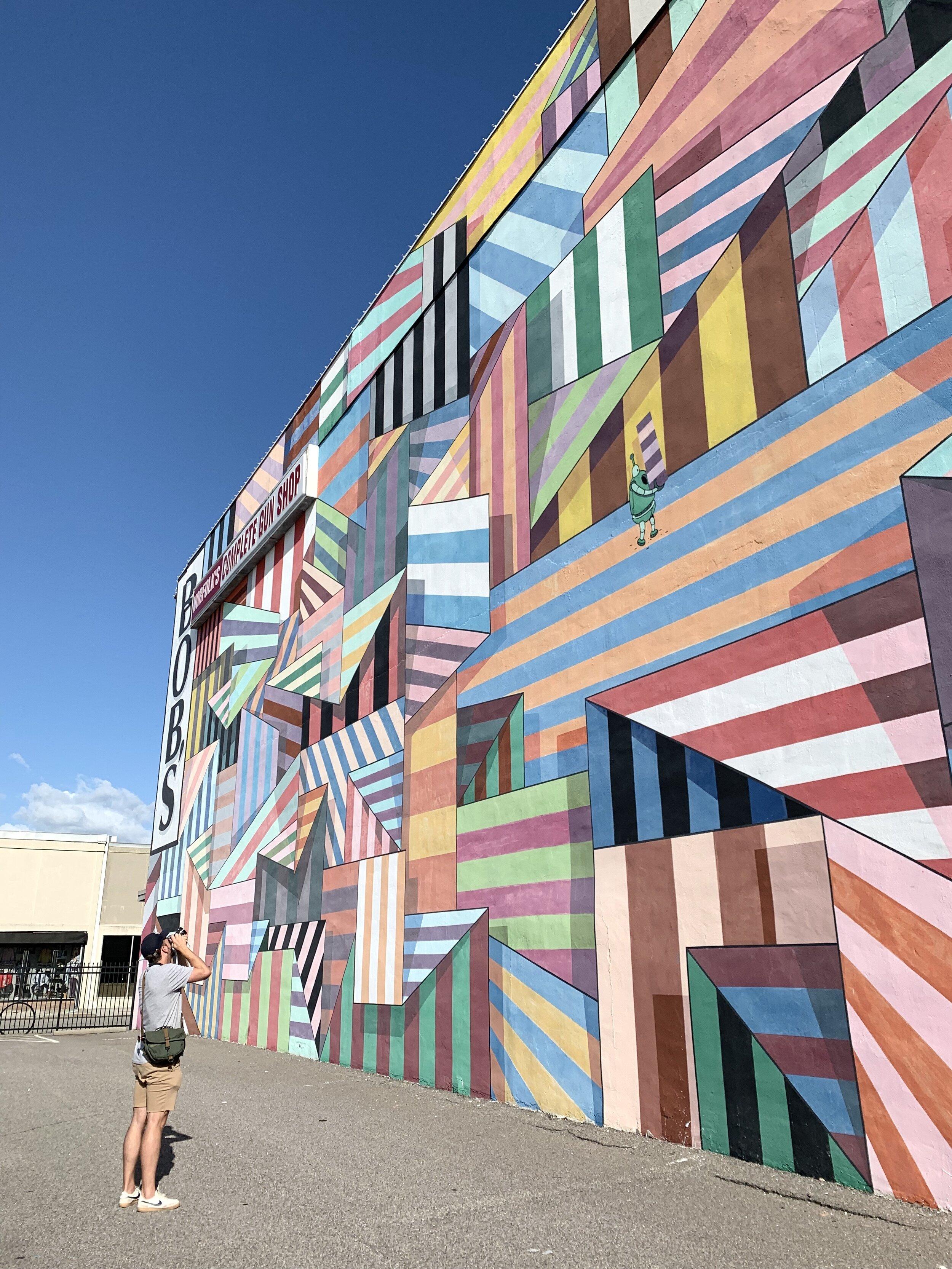 Some of the murals are MASSIVE!