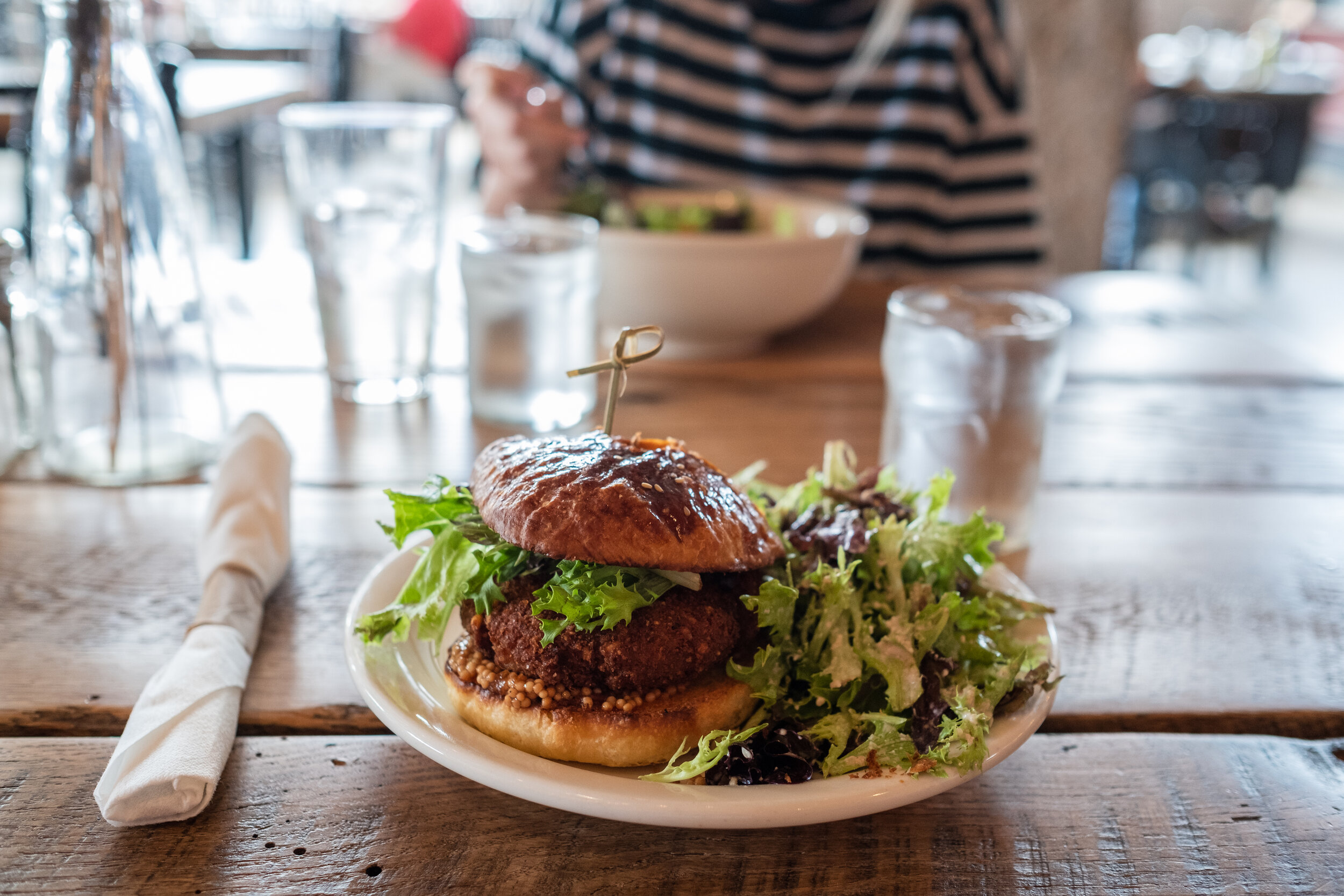 The Bacon Jam Burger at Commune is delicious!
