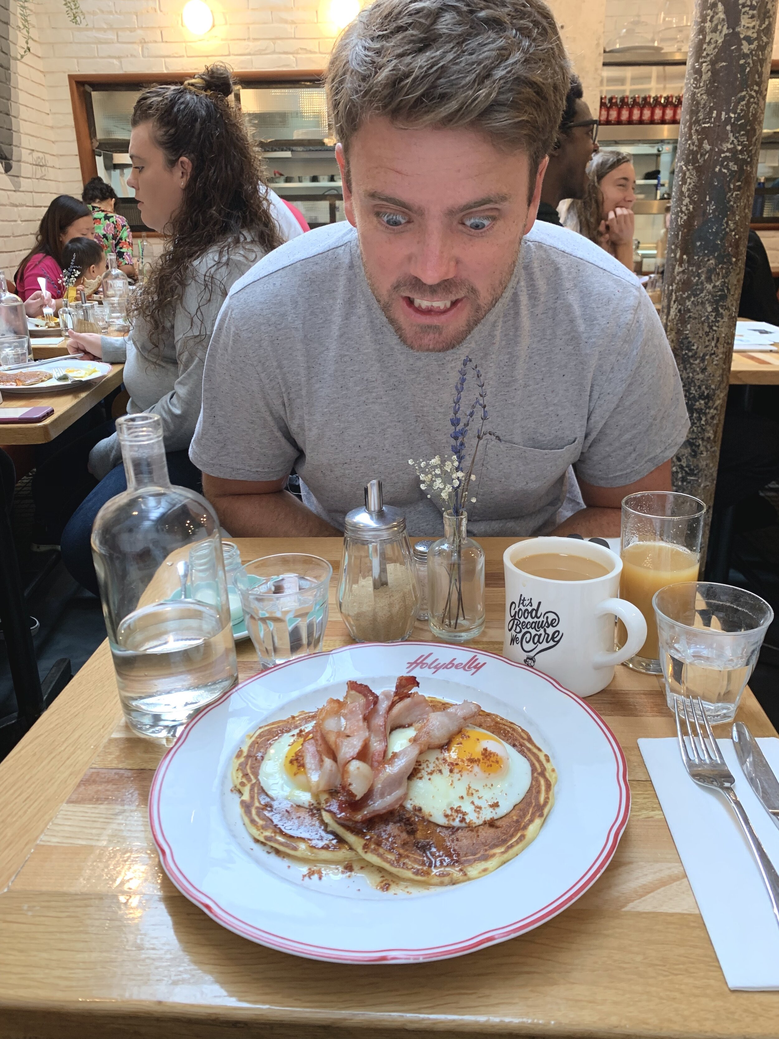Not sure what it is about Holybelly. These pancakes had the PERFECT amount of syrup balanced with delicious bacon and eggs. We hope to be back some day soon!