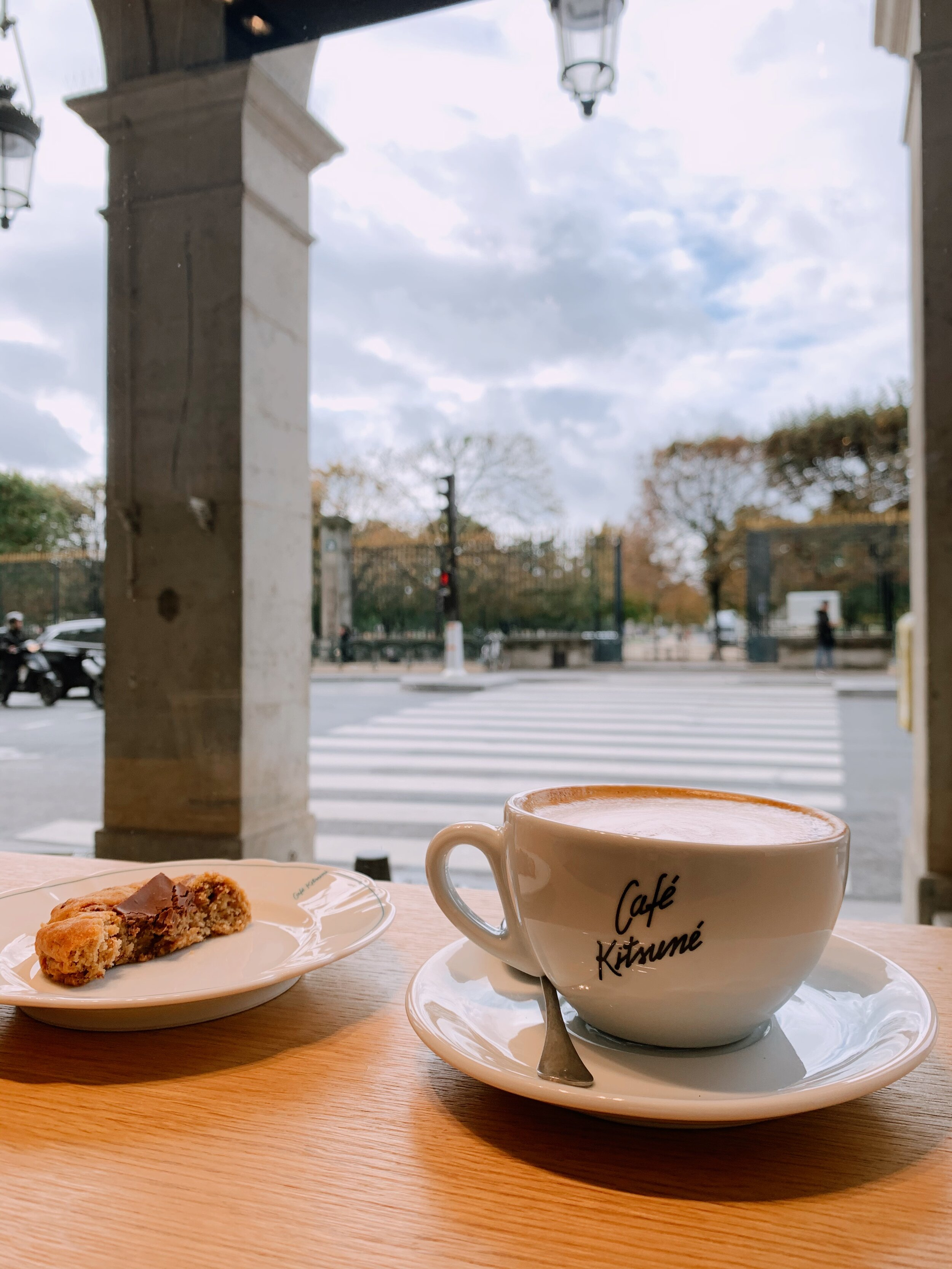 Cafe Kitsune is right by the Louvre!